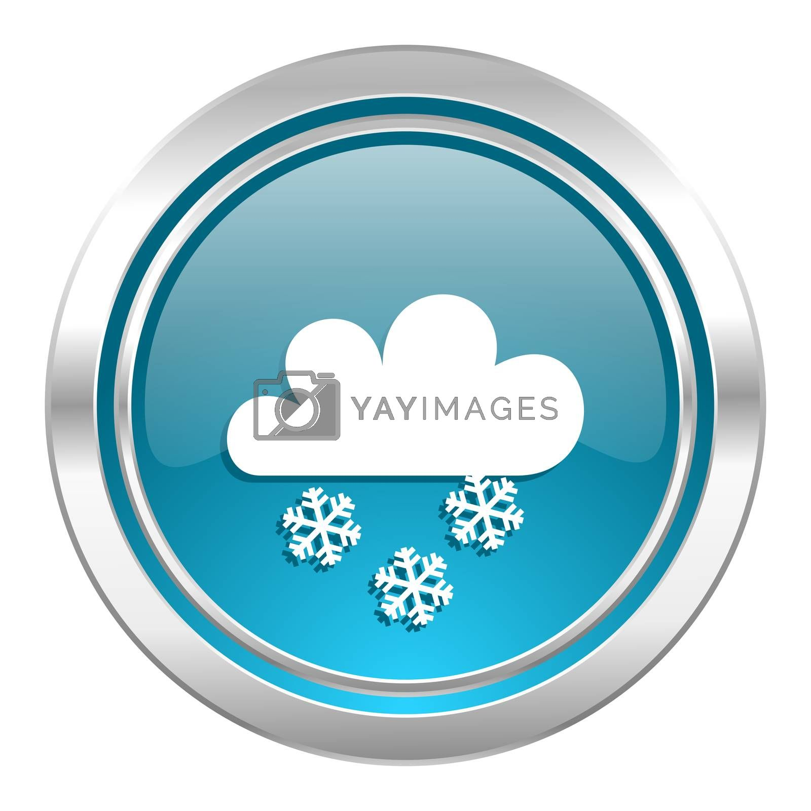snowing icon, waether forecast sign