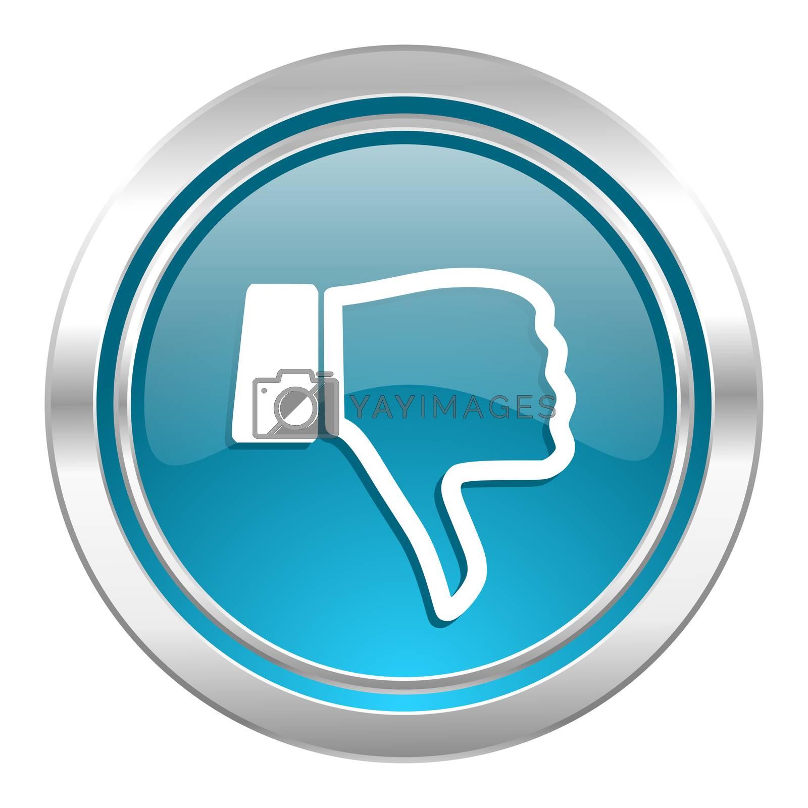 dislike icon, thumb down sign