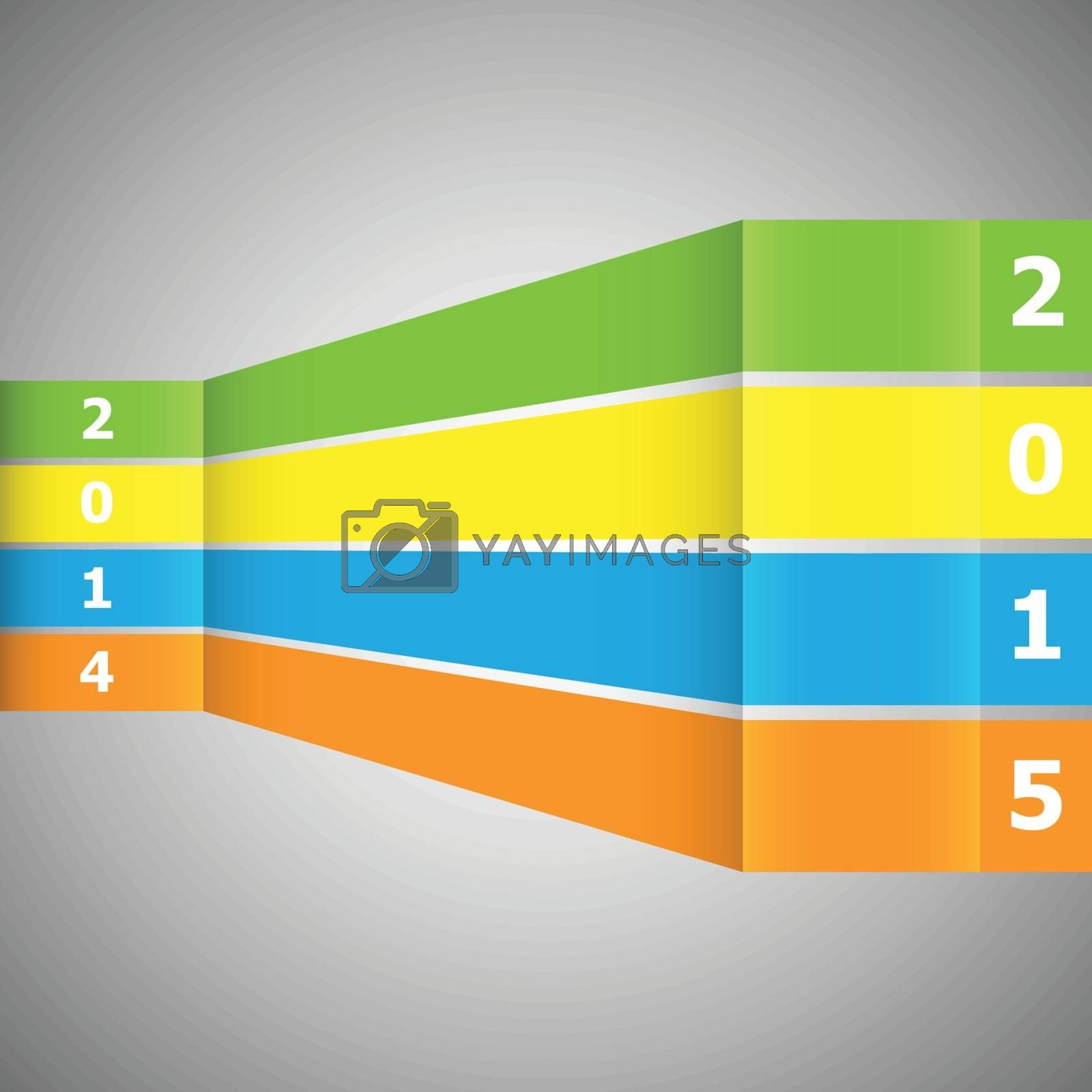Abstract colorful banner with 2015, stock vector