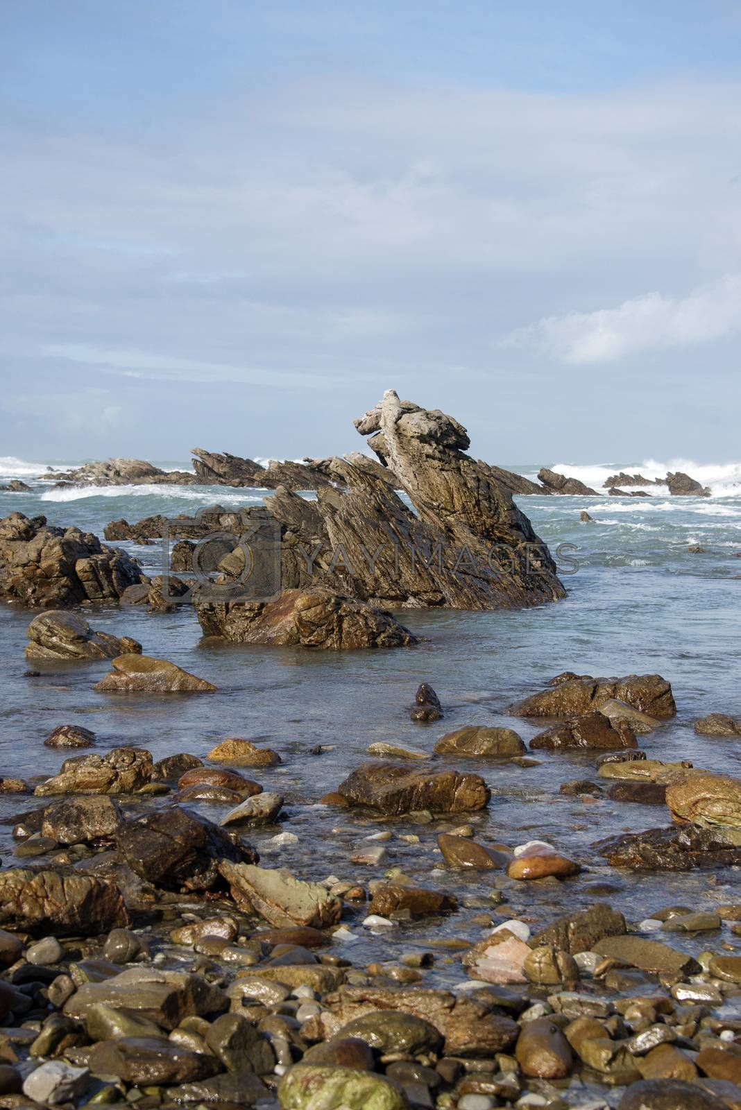Waves breaking on rocks at Cape Agulhas