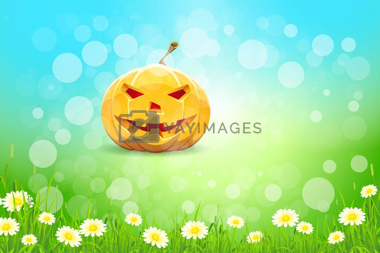 Halloween Background with Pumpkin by WaD