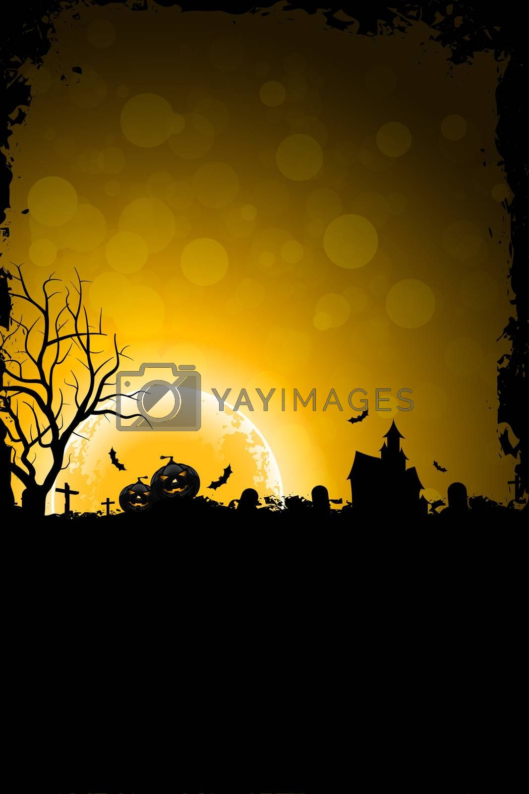 Grunge Background for Halloween Party by WaD