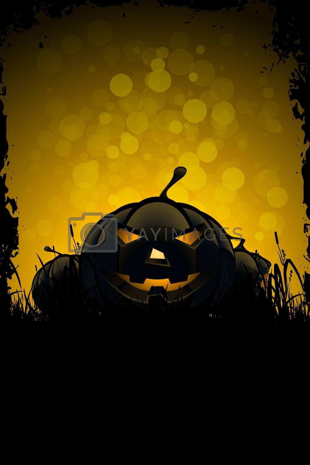 Halloween Background with Pumpkins by WaD