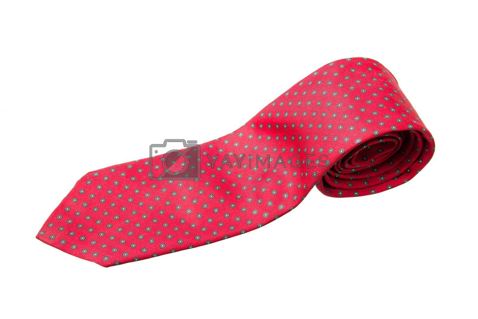 red with green dots business neck tie by kasinv