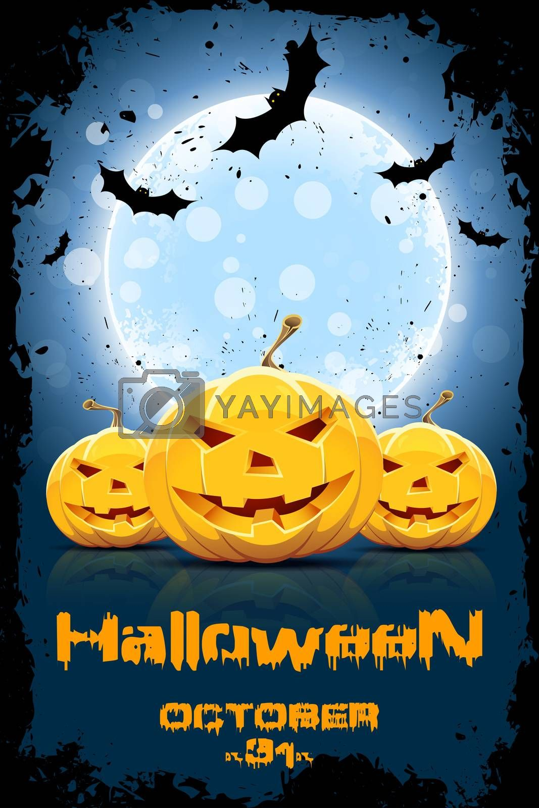 Grungy Background for Halloween Party by WaD