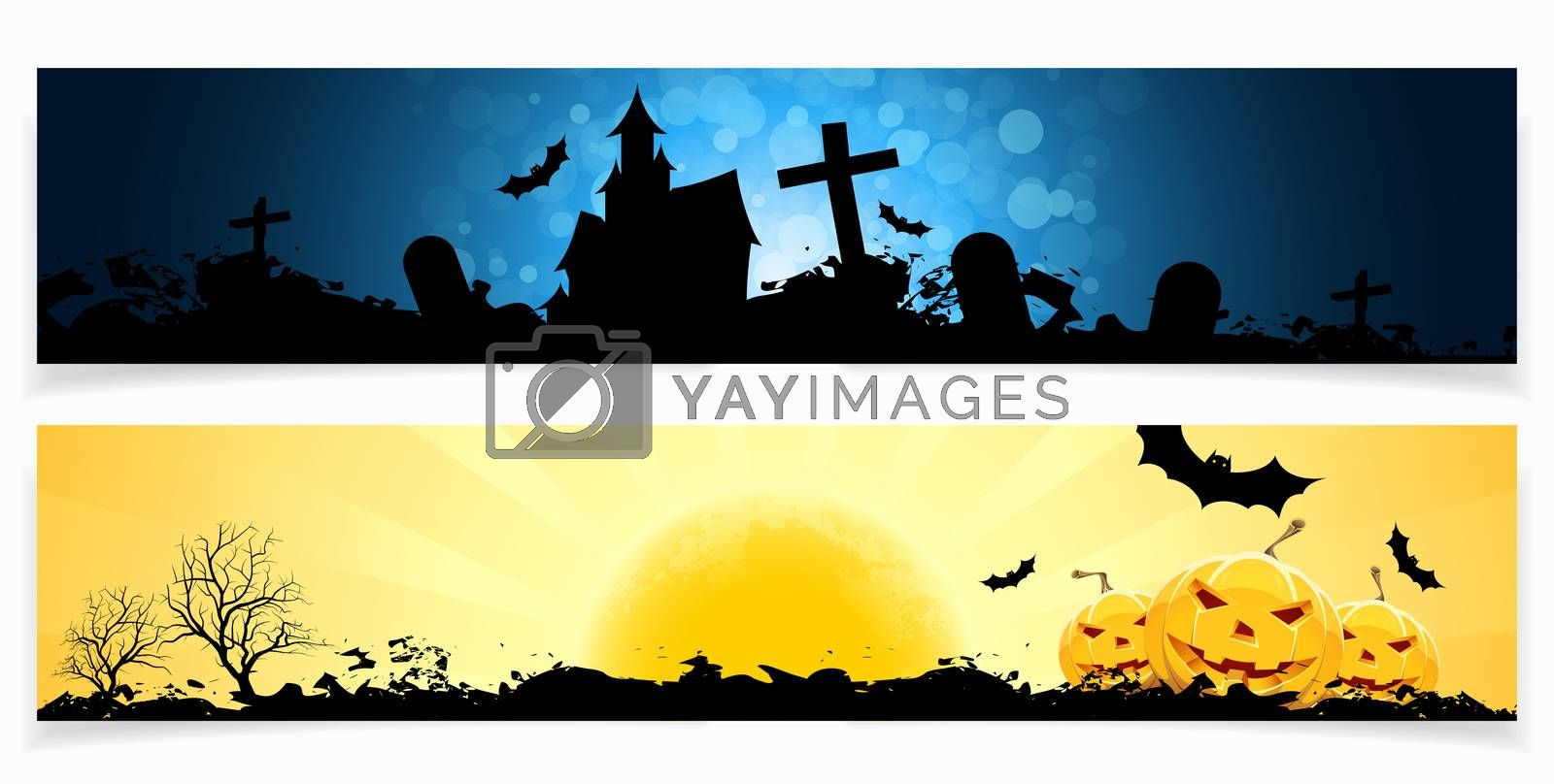 Set of Halloween Banners by WaD