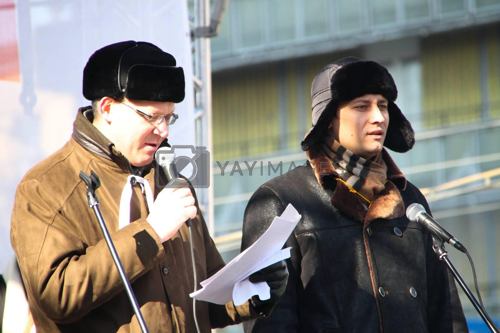 Policy Nikolay Ryzhkov and Dmitry Gudkov by olegkozyrev