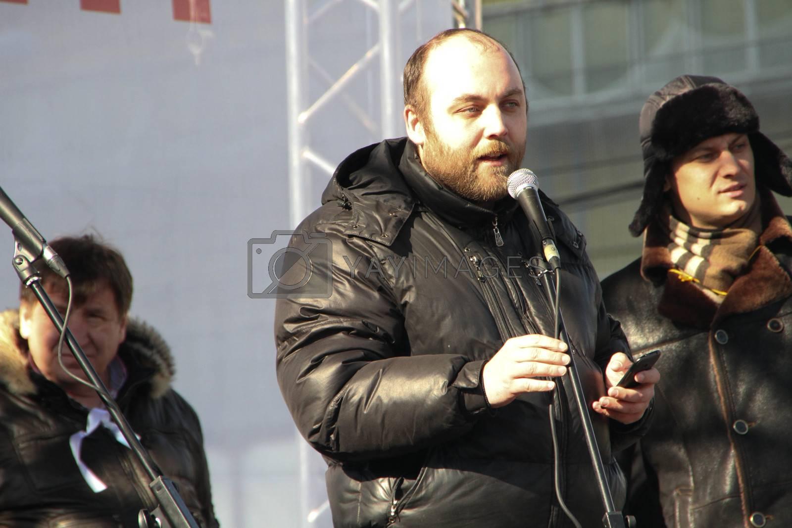 Civil activist Peter Shkumatov by olegkozyrev