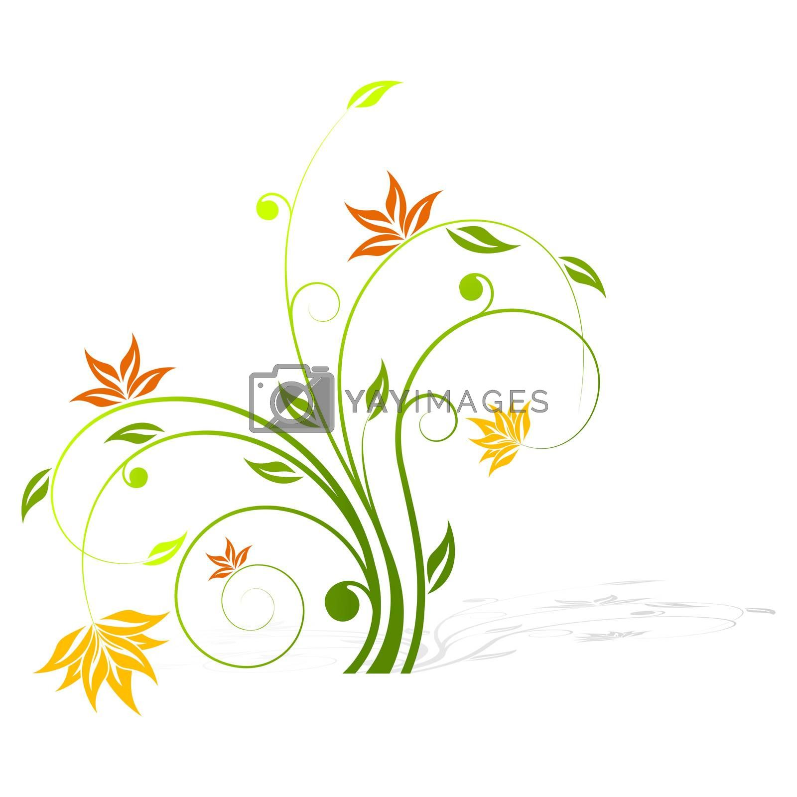 Abstract flower icon by WaD