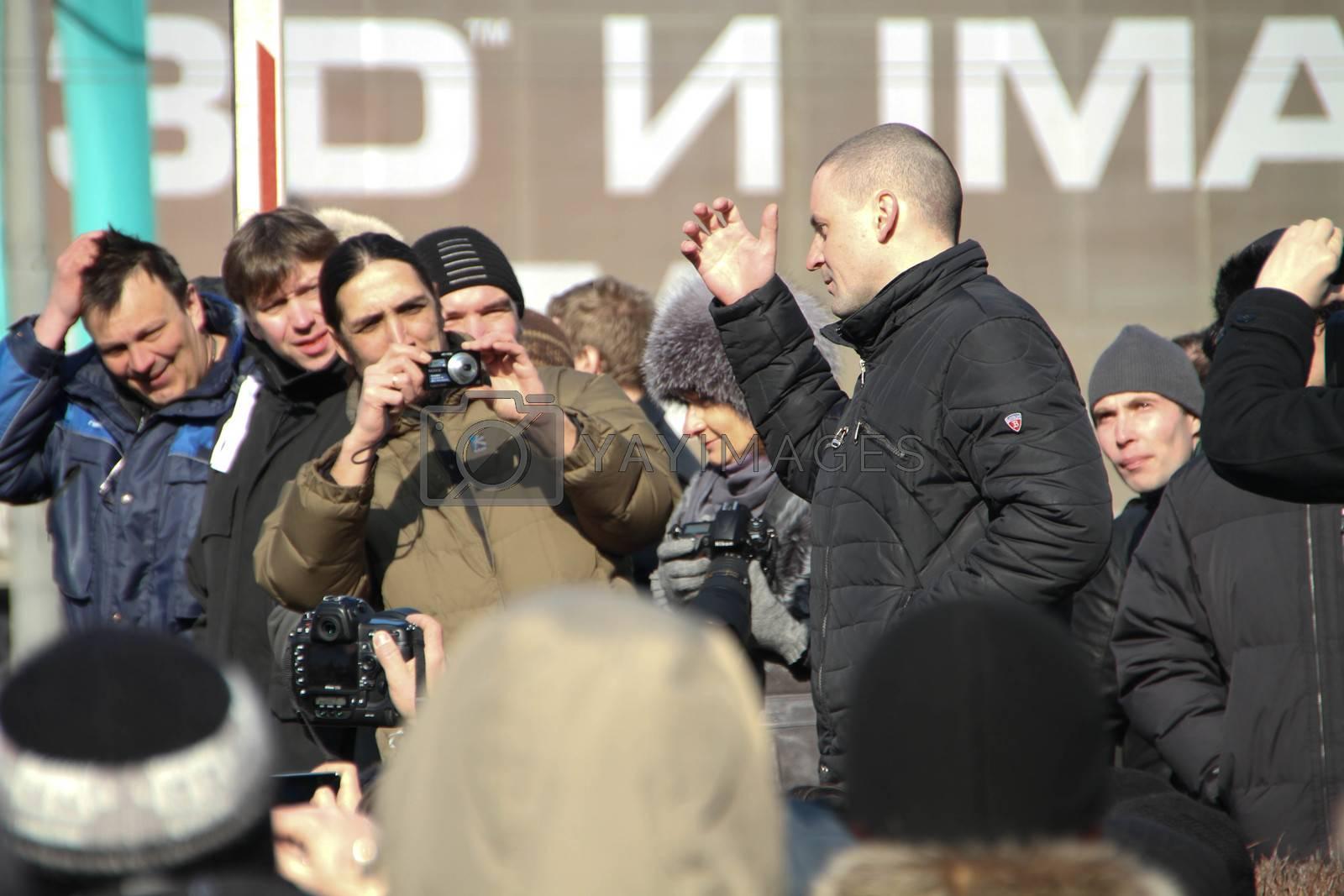 Politician Sergei Udaltsov by olegkozyrev