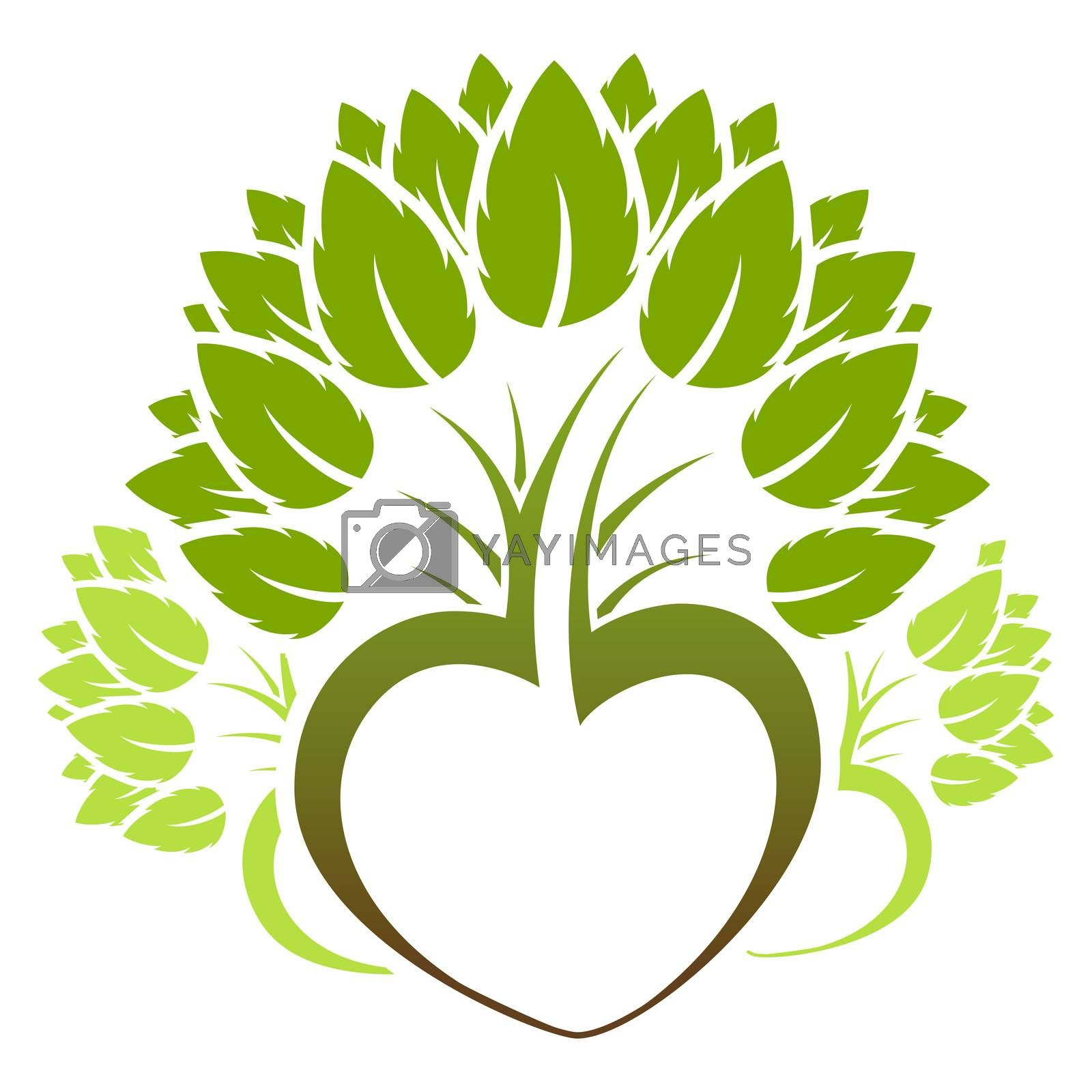 Abstract green tree icon logo by WaD