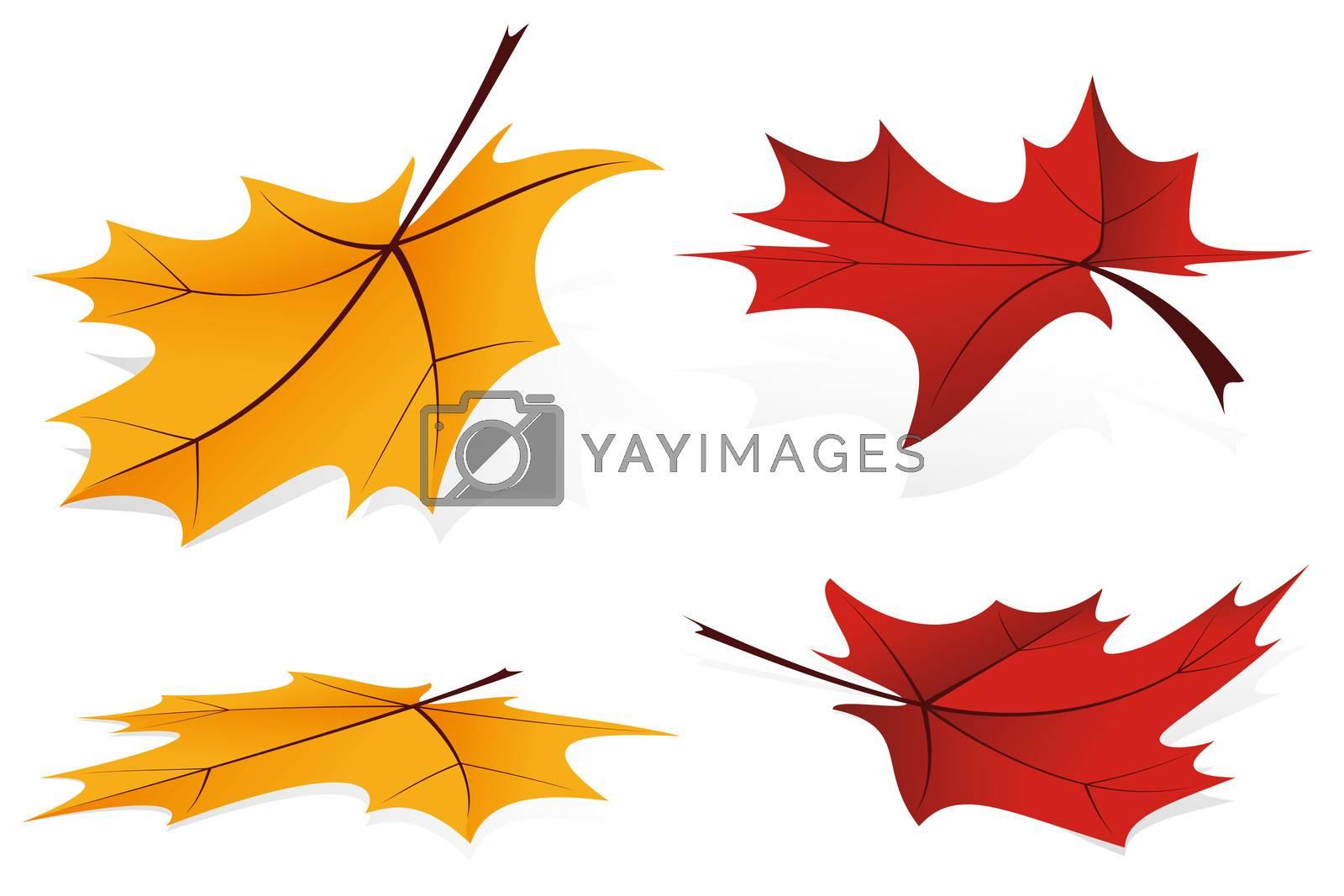 Falling leafs icon set by WaD
