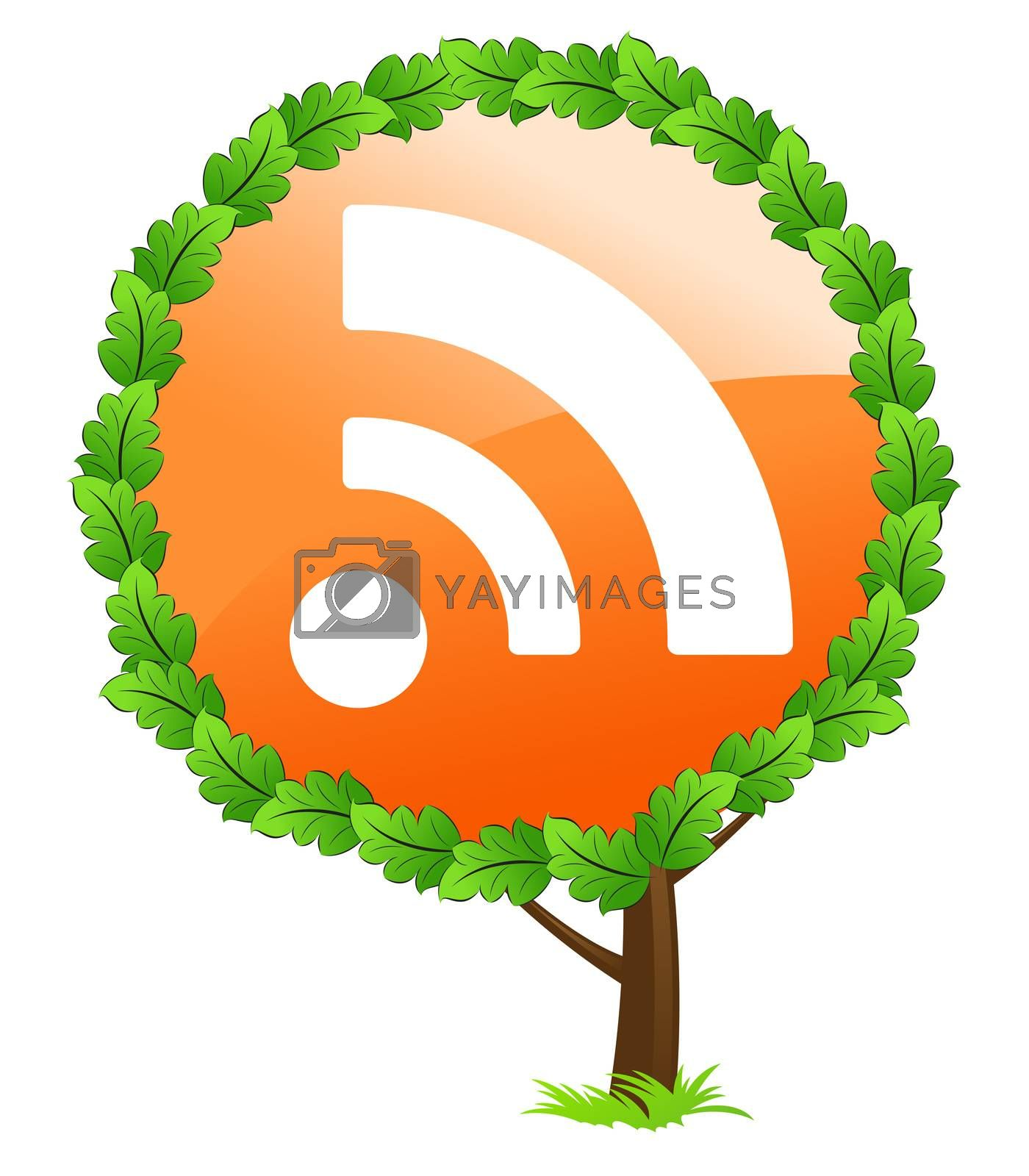 RSS tree icon by WaD