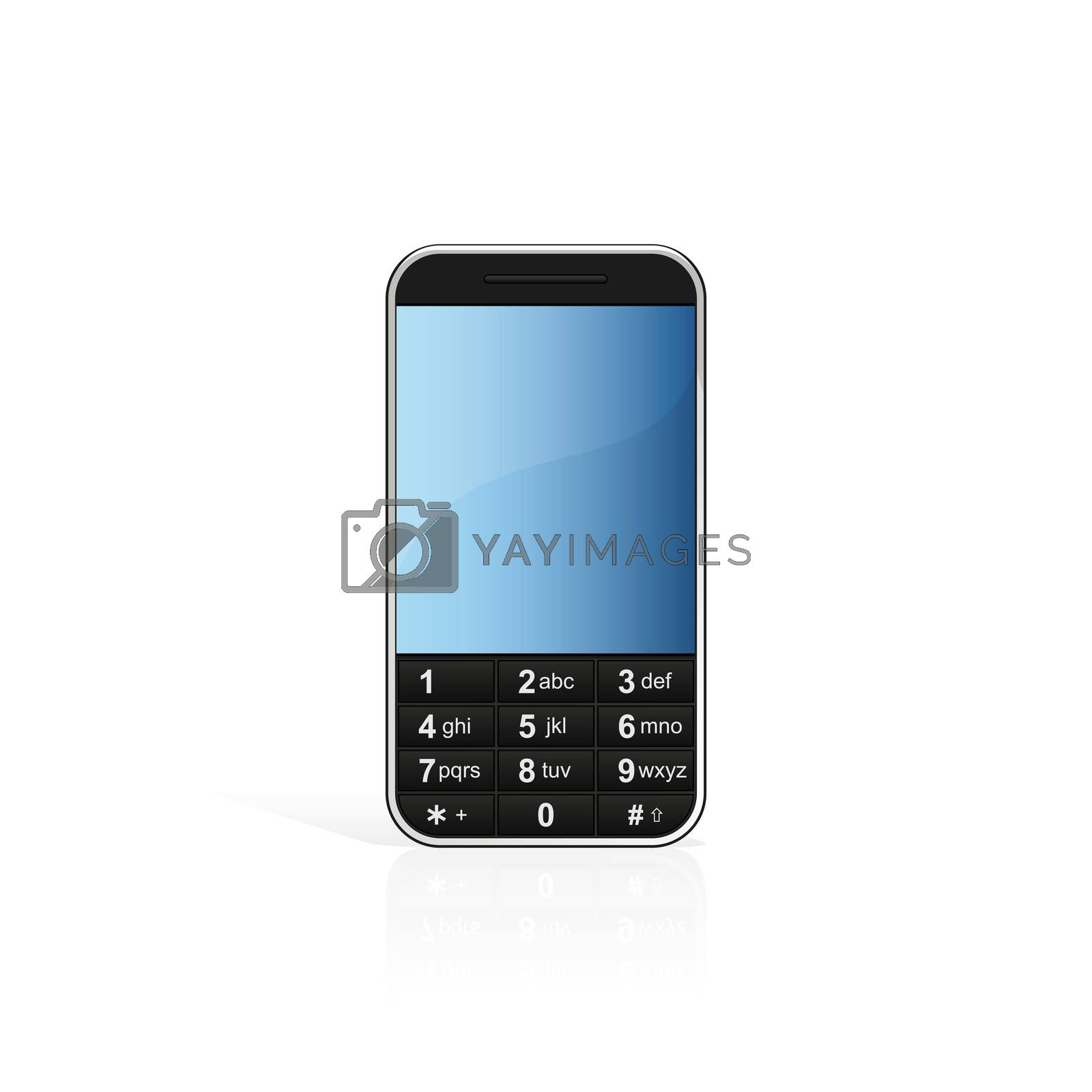 Isolated mobile phone by WaD