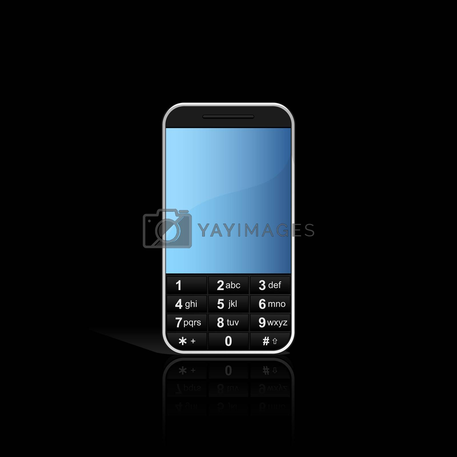 Mobile phone with reflection by WaD