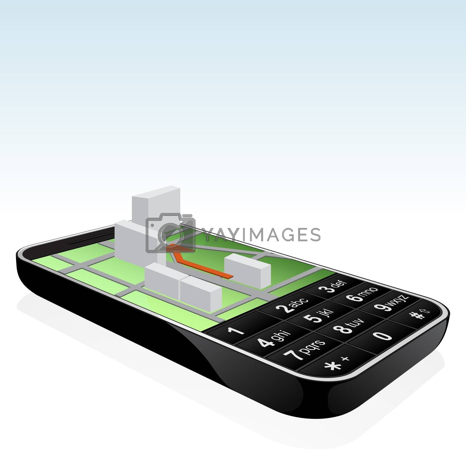 Mobile phone navigator icon by WaD