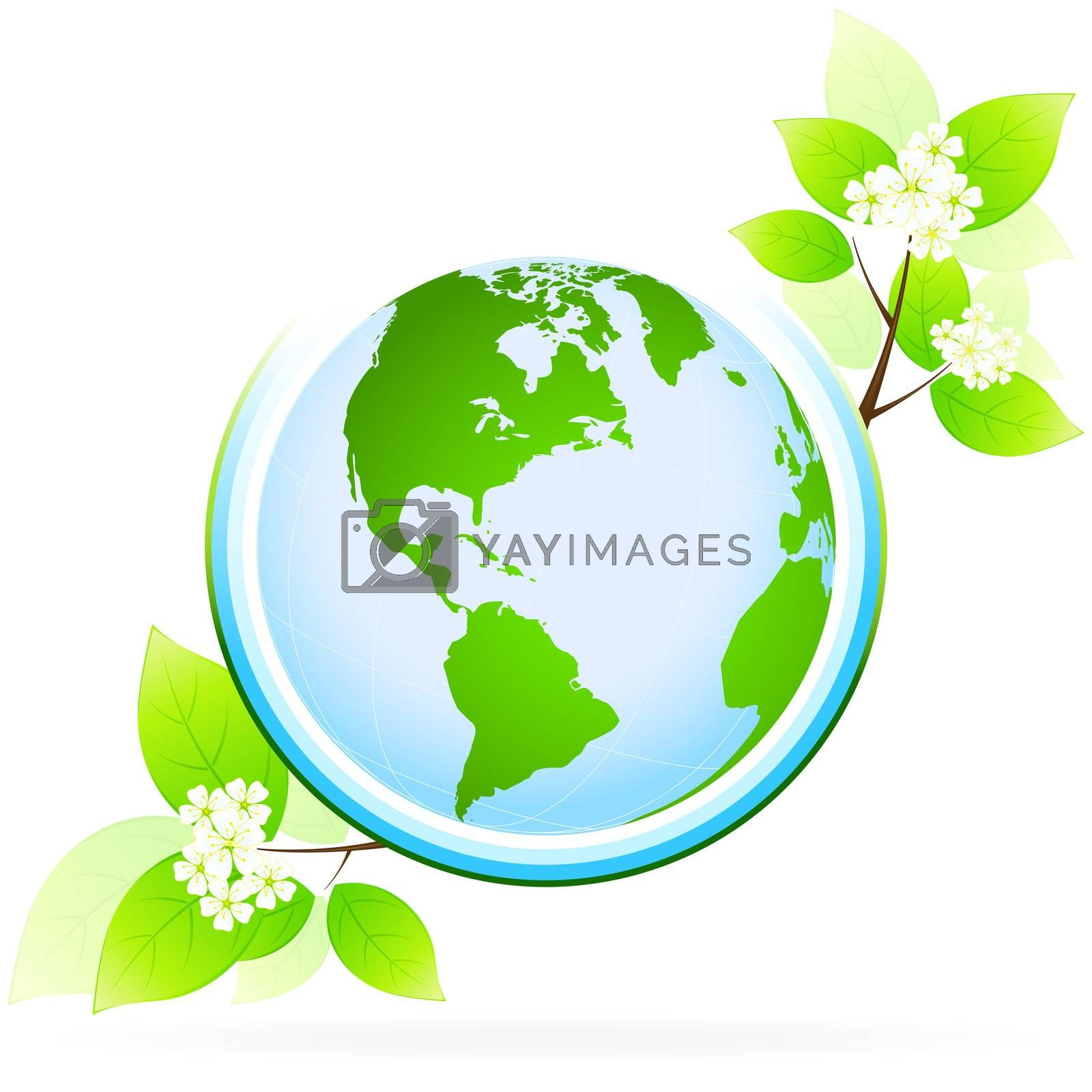 Green planet icon by WaD