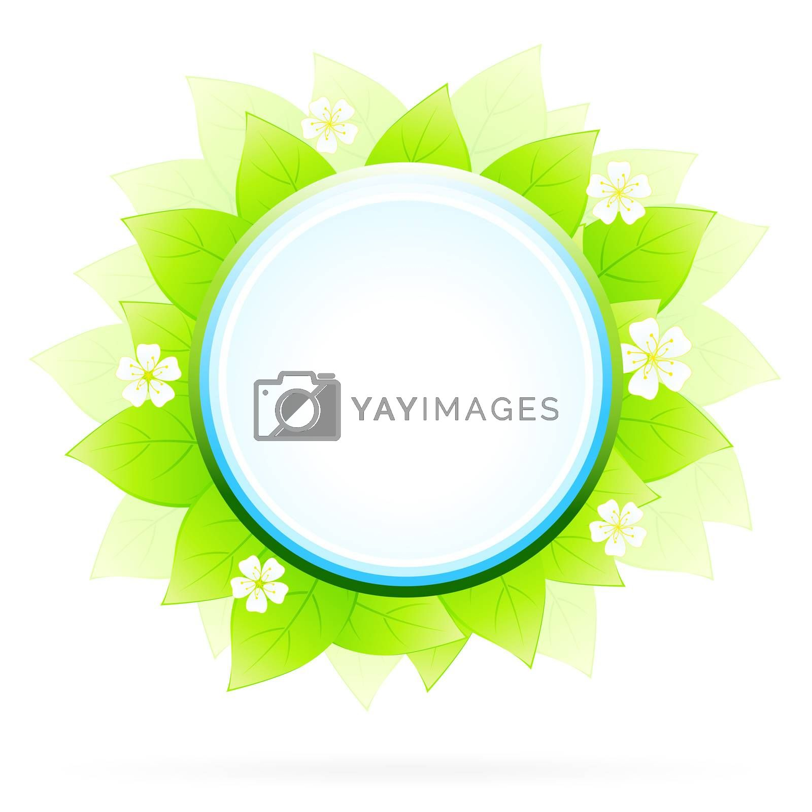 Green floral icon by WaD