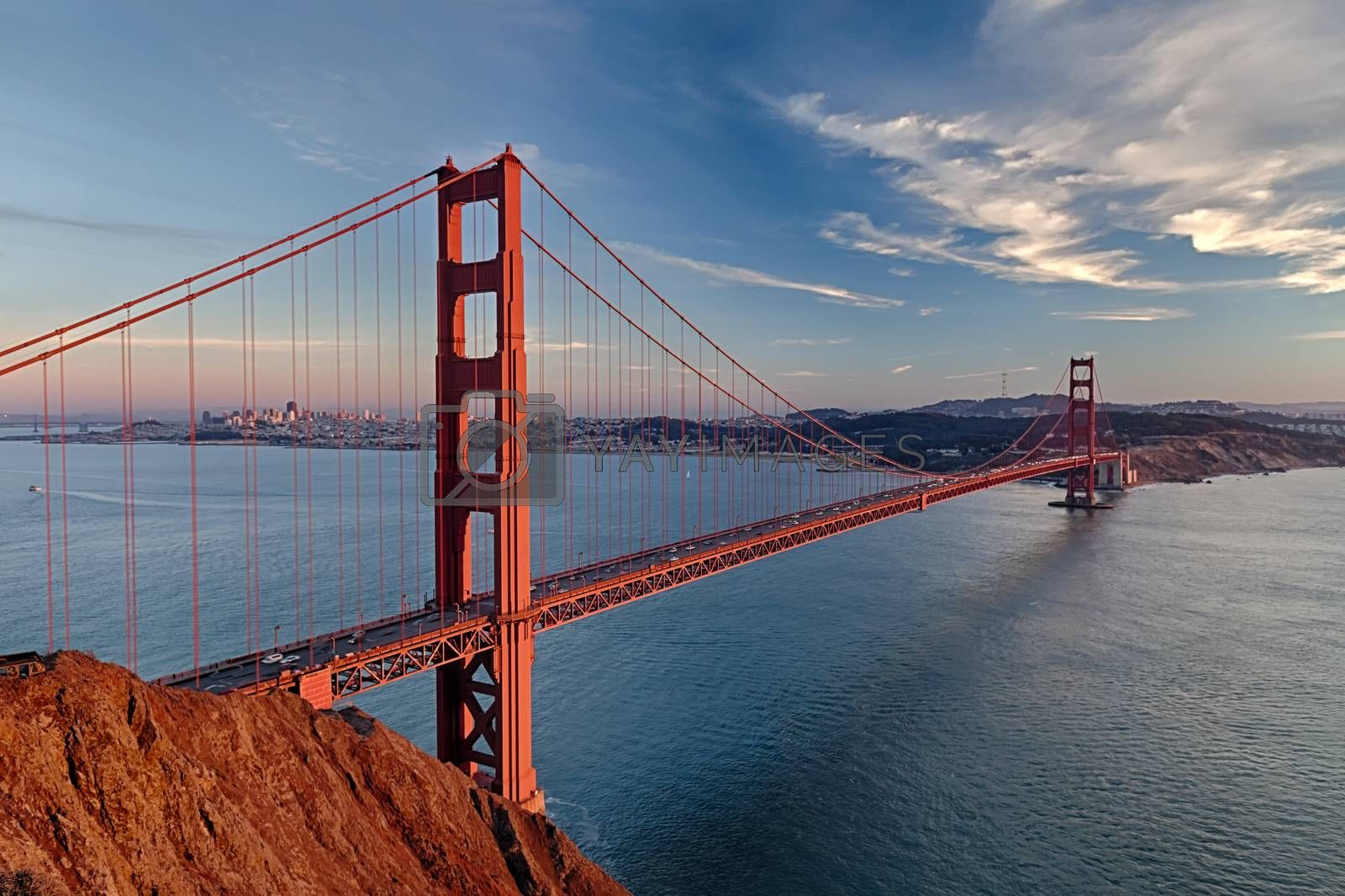 Golden Gate Bridge in San Fracisco City by hanusst