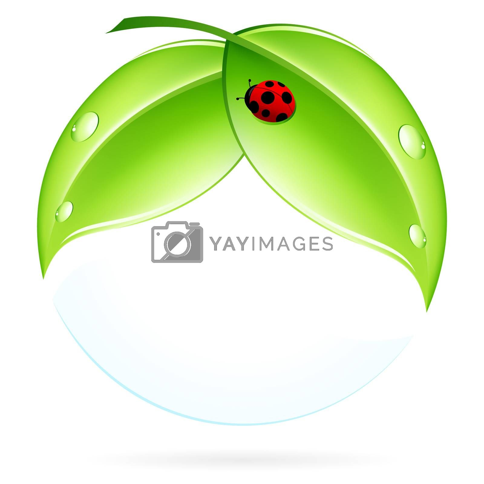 Green Leaves with Ladybird by WaD