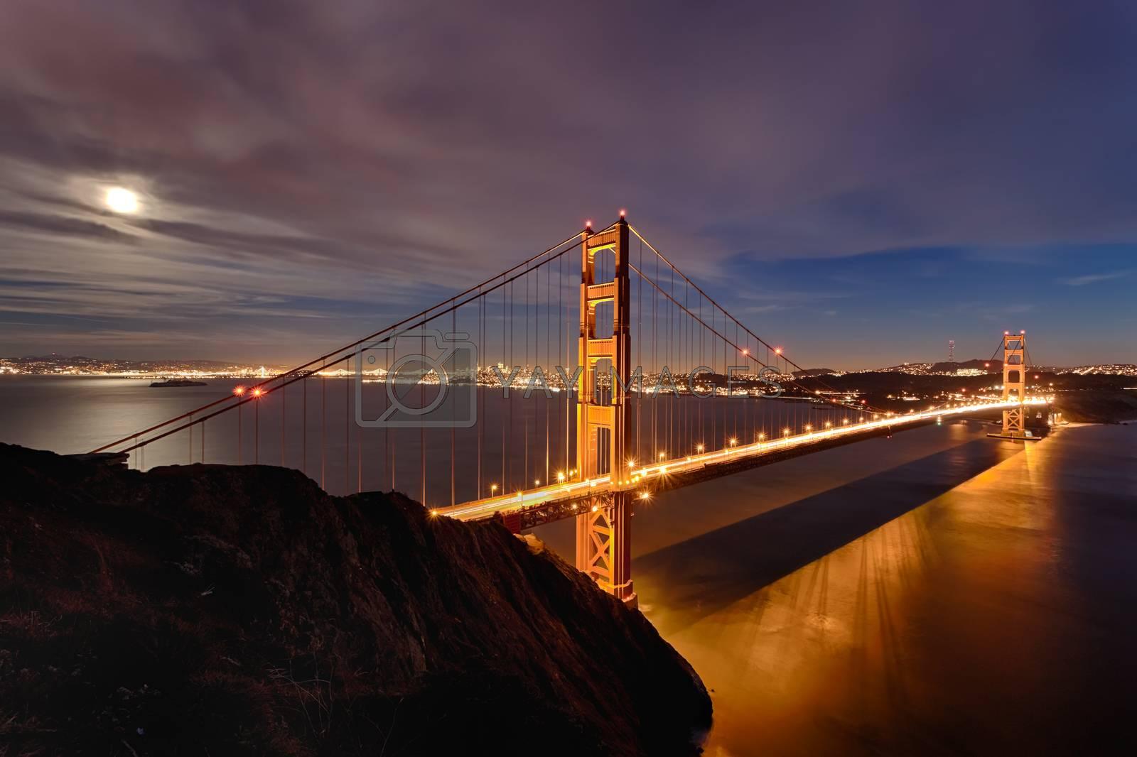 Golden Gate Bridge in San Fracisco City by hanusst