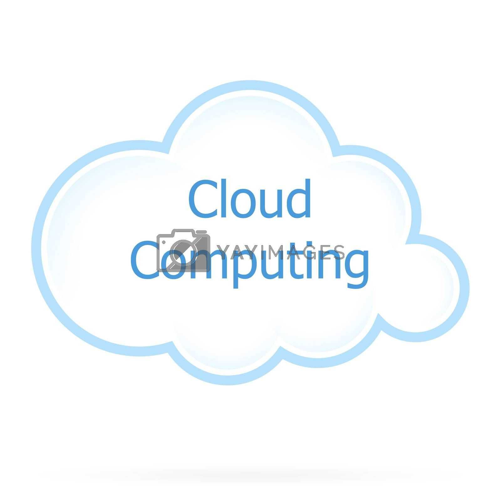 Cloud Computing Icon by WaD