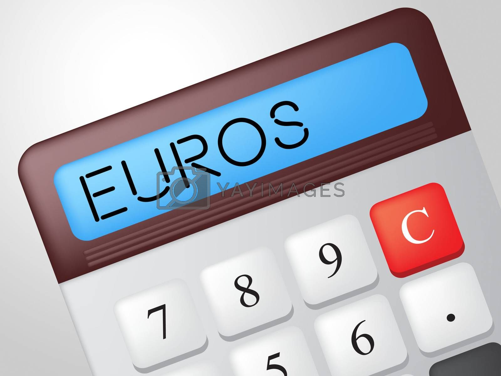 Euros Calculator Represents Investment Cash And Money by stuartmiles