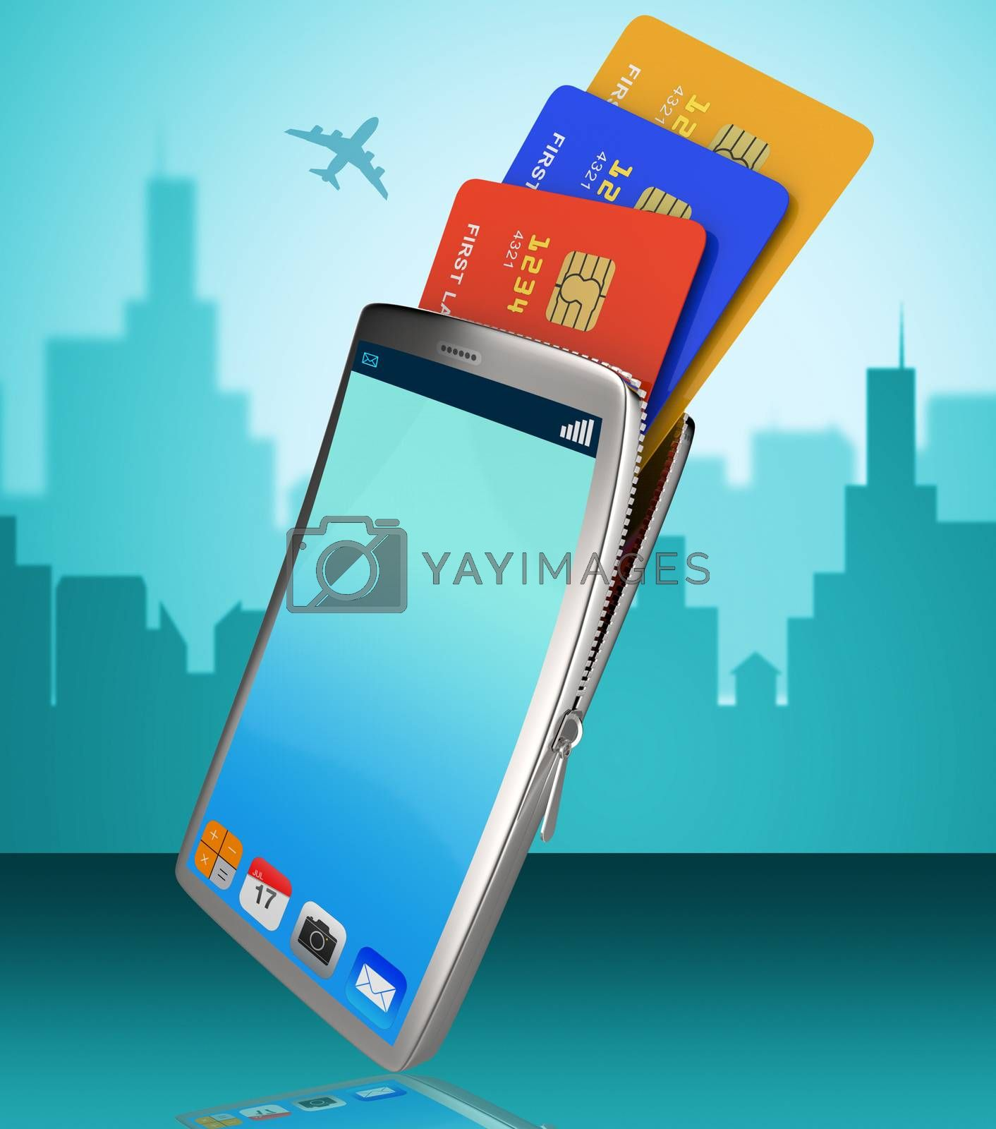 Credit Card Online Indicates World Wide Web And Banking by stuartmiles