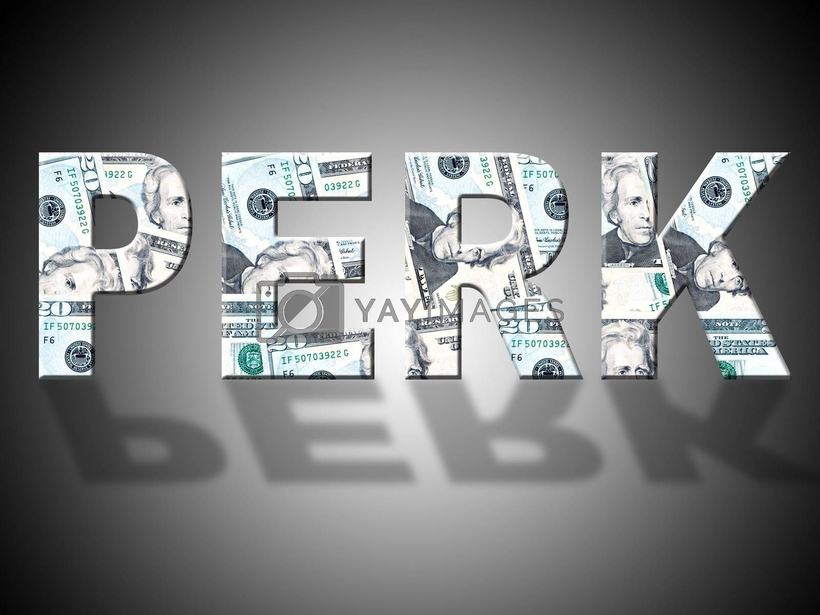 Perk Dollars Represents United States And Bank by stuartmiles