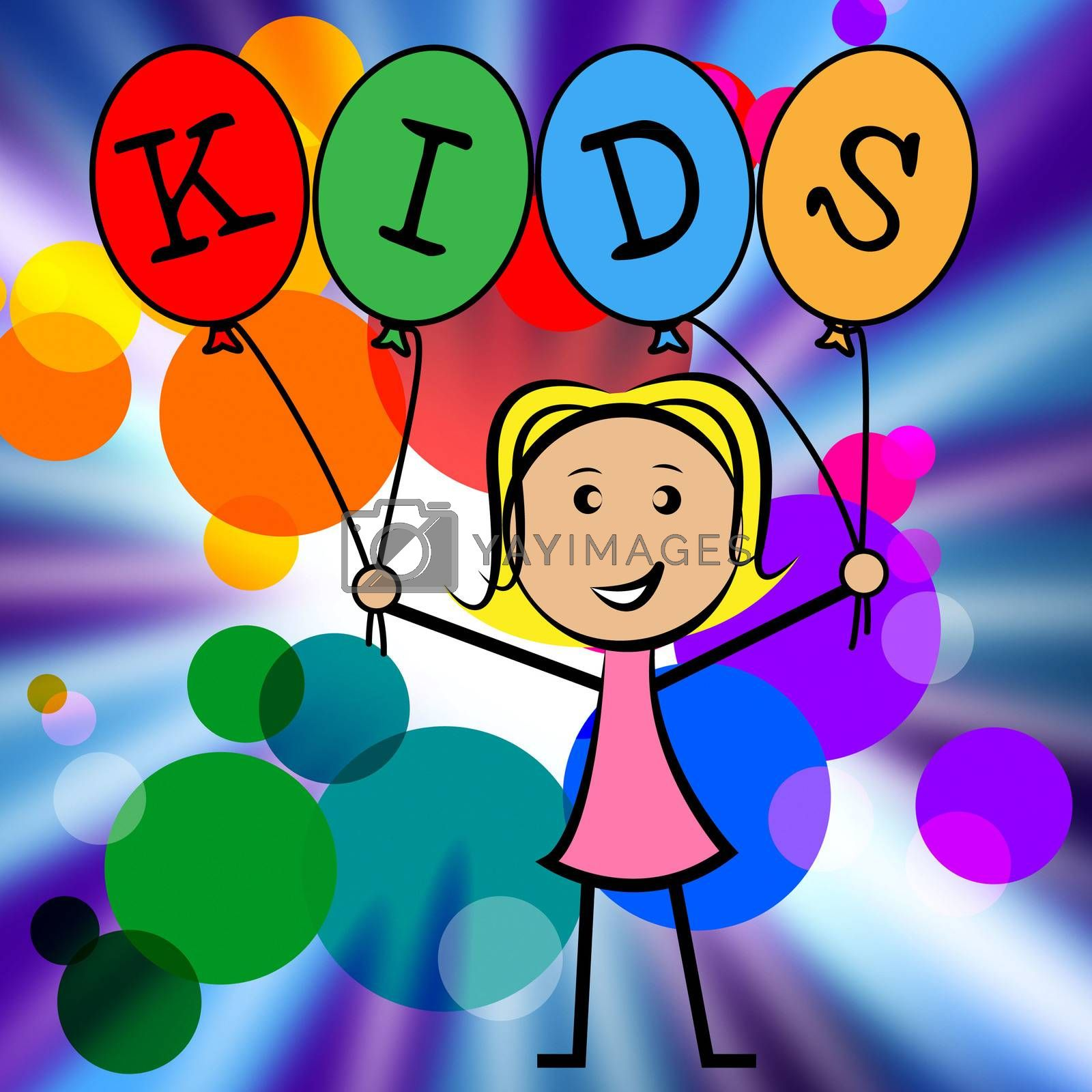 Kids Balloons Shows Youths Female And Youngster by stuartmiles