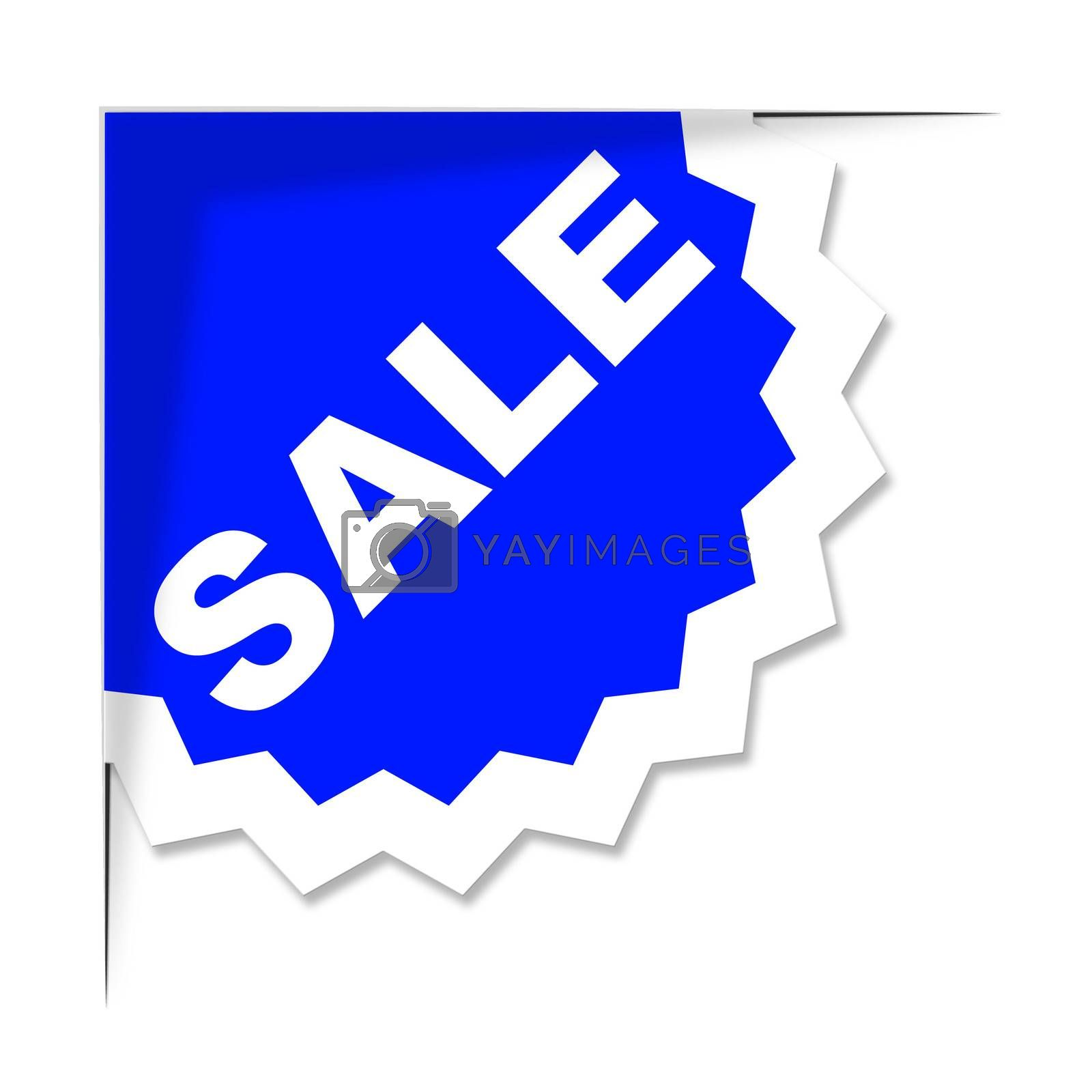 Sale Label Means Promo Save And Offer by stuartmiles