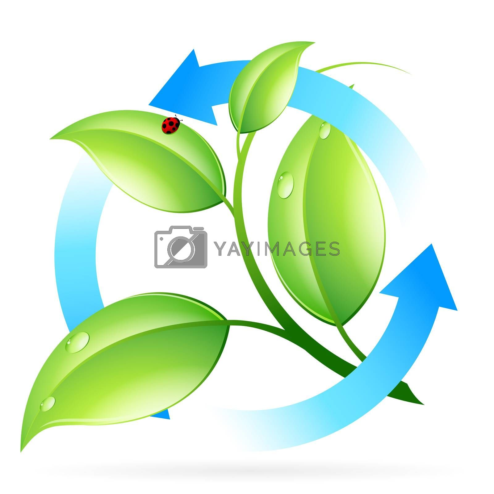 Fresh Green Leaves Icon by WaD