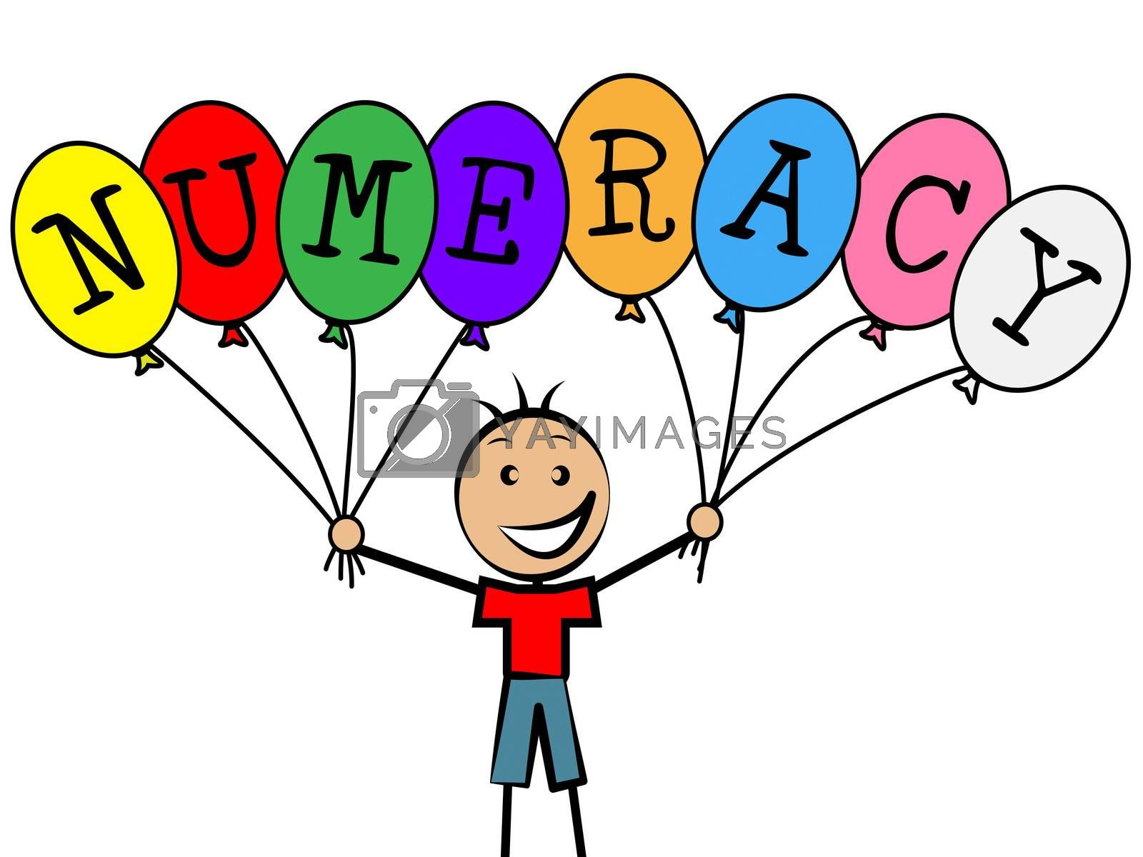 Numeracy Balloons Represents Youths Son And Numerical by stuartmiles