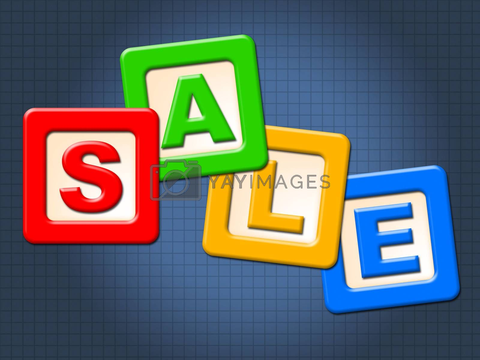 Sale Kids Blocks Indicates Youths Youngsters And Youth by stuartmiles