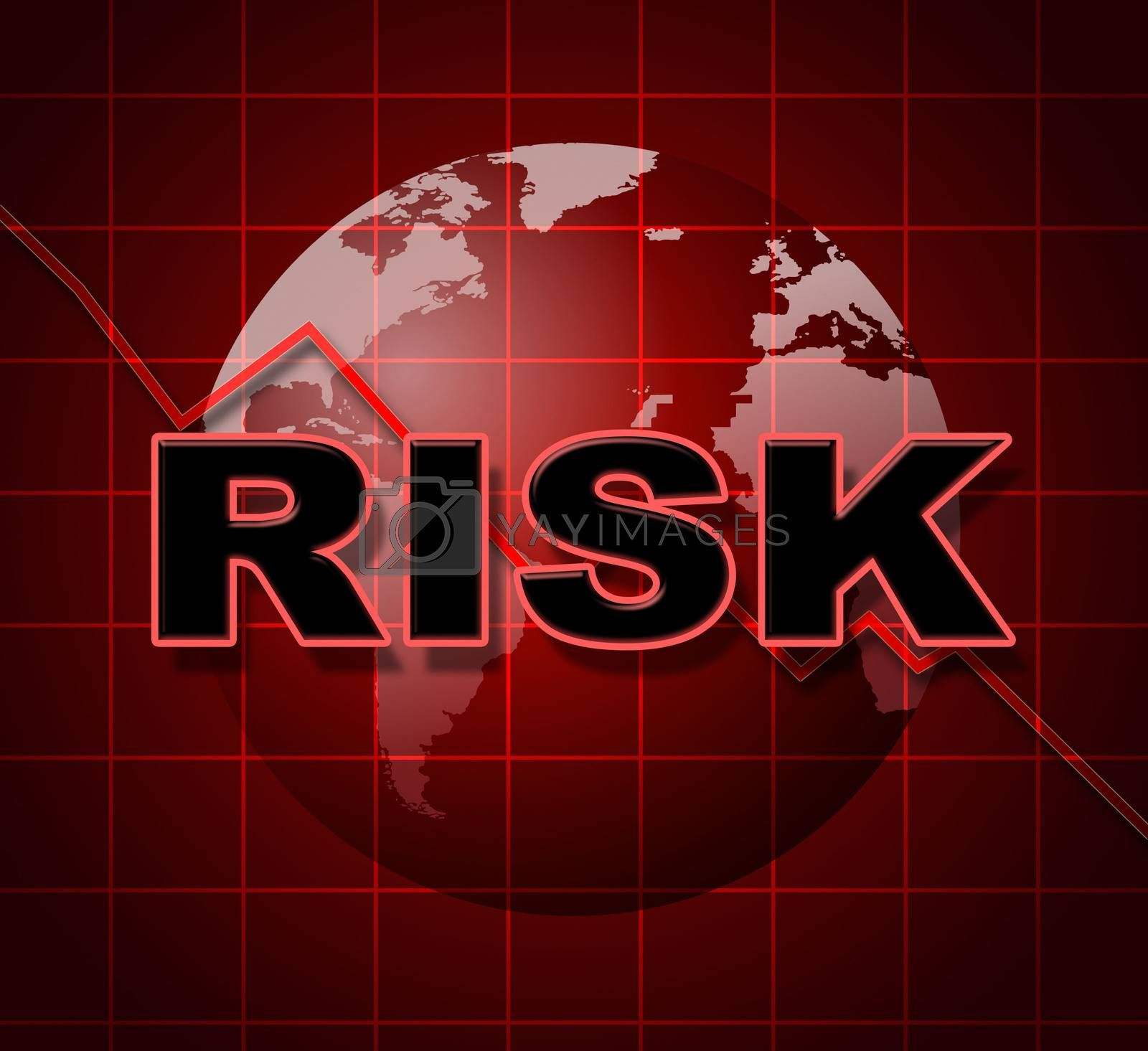Risk Graph Shows Infochart Beware And Risky by stuartmiles