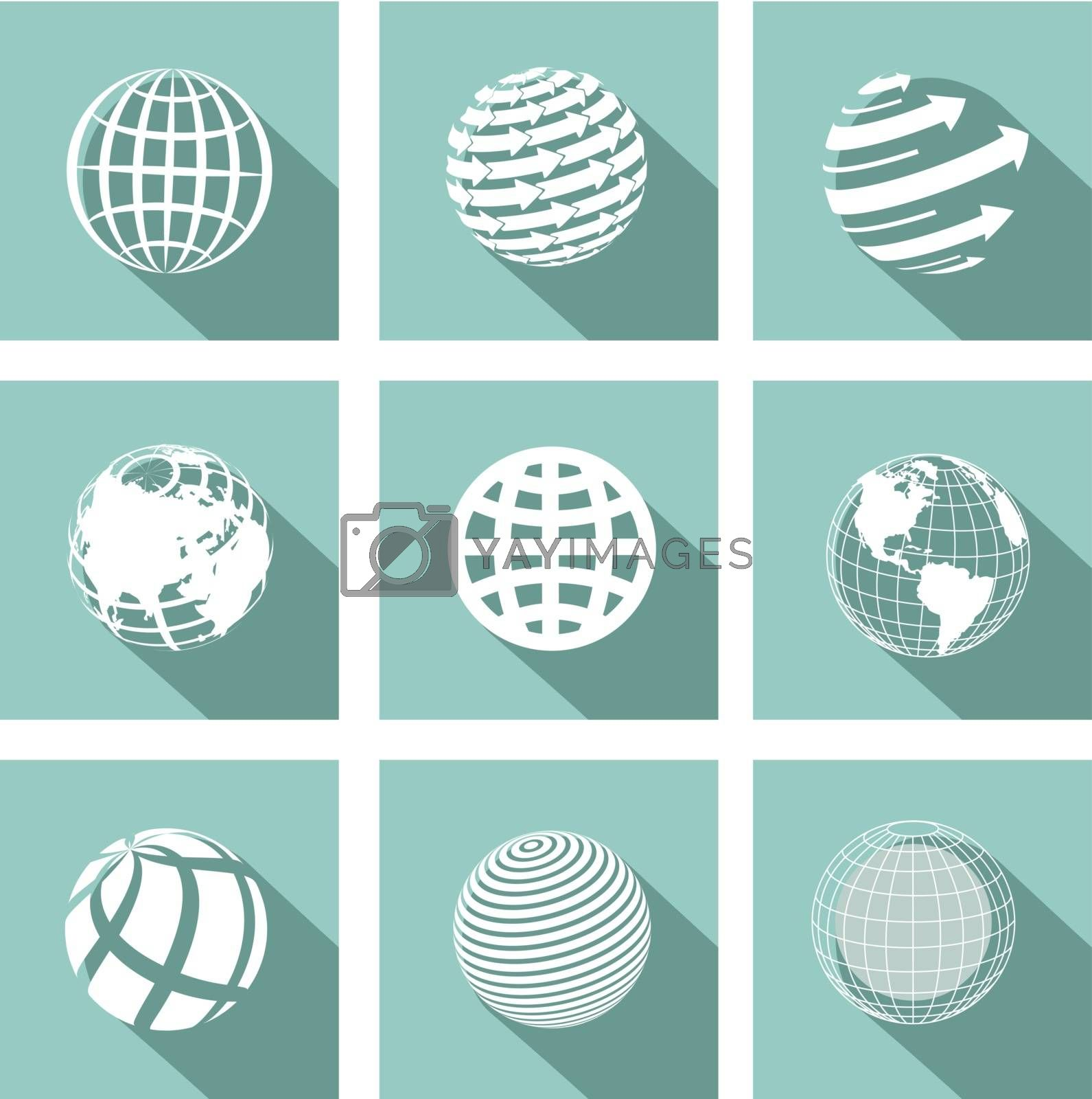 icon globe by brux