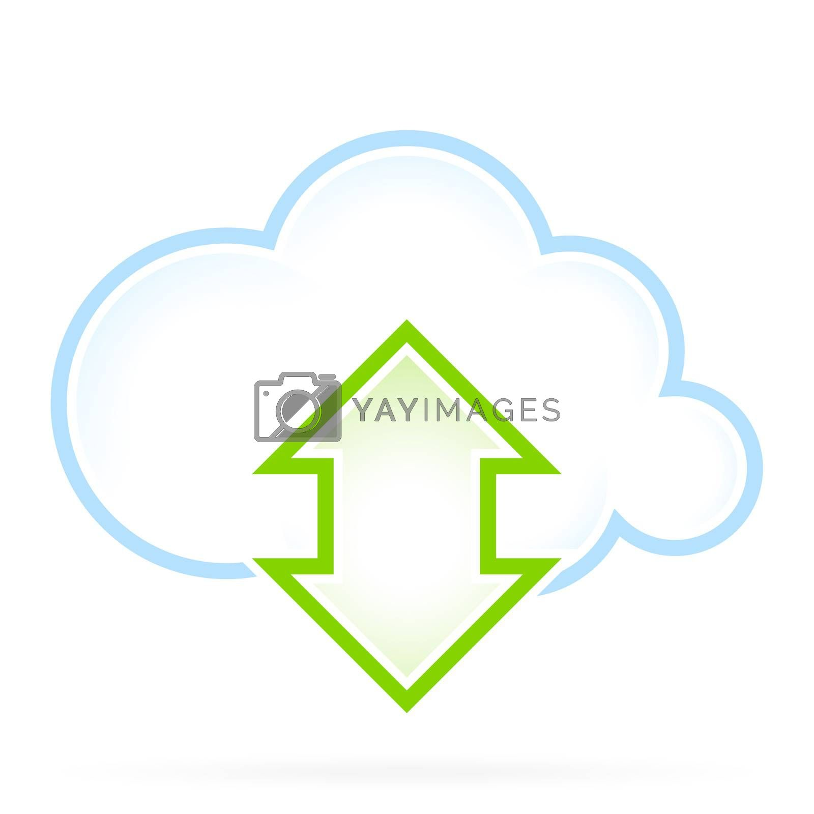 Cloud Computing Icon Communication by WaD