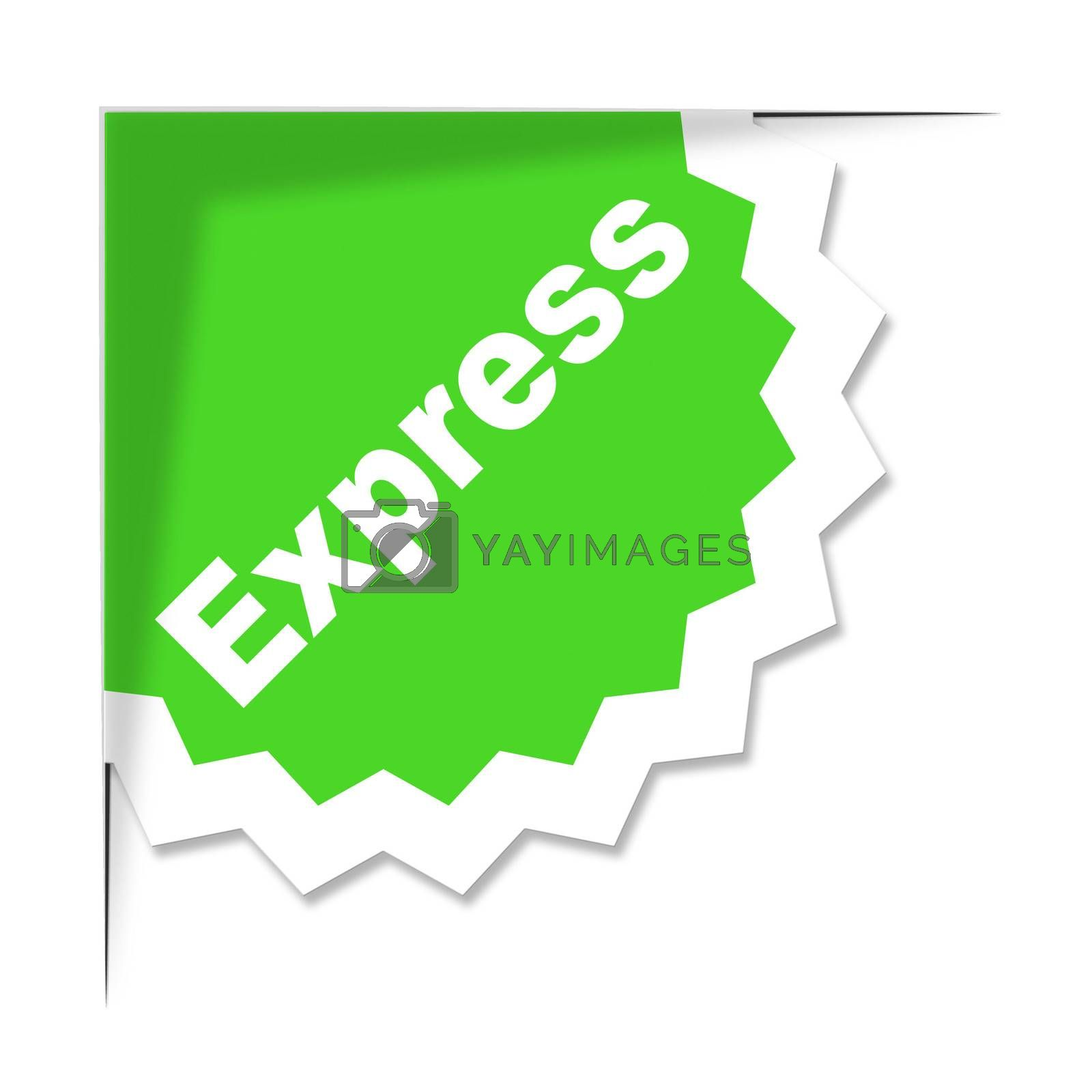 Express Delivery Label Shows High Speed And Courier by stuartmiles
