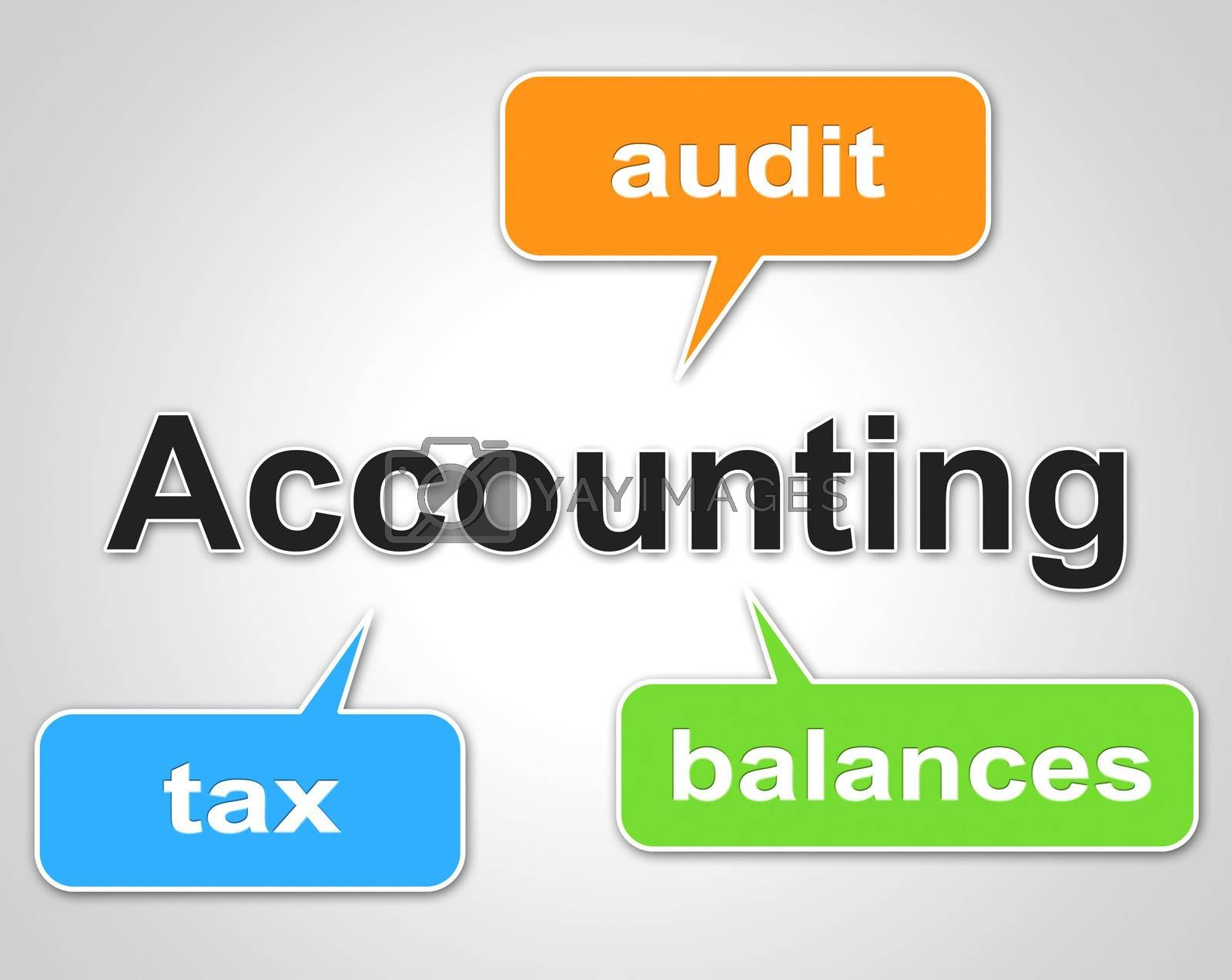 Accounting Words Indicates Balancing The Books And Accountant by stuartmiles