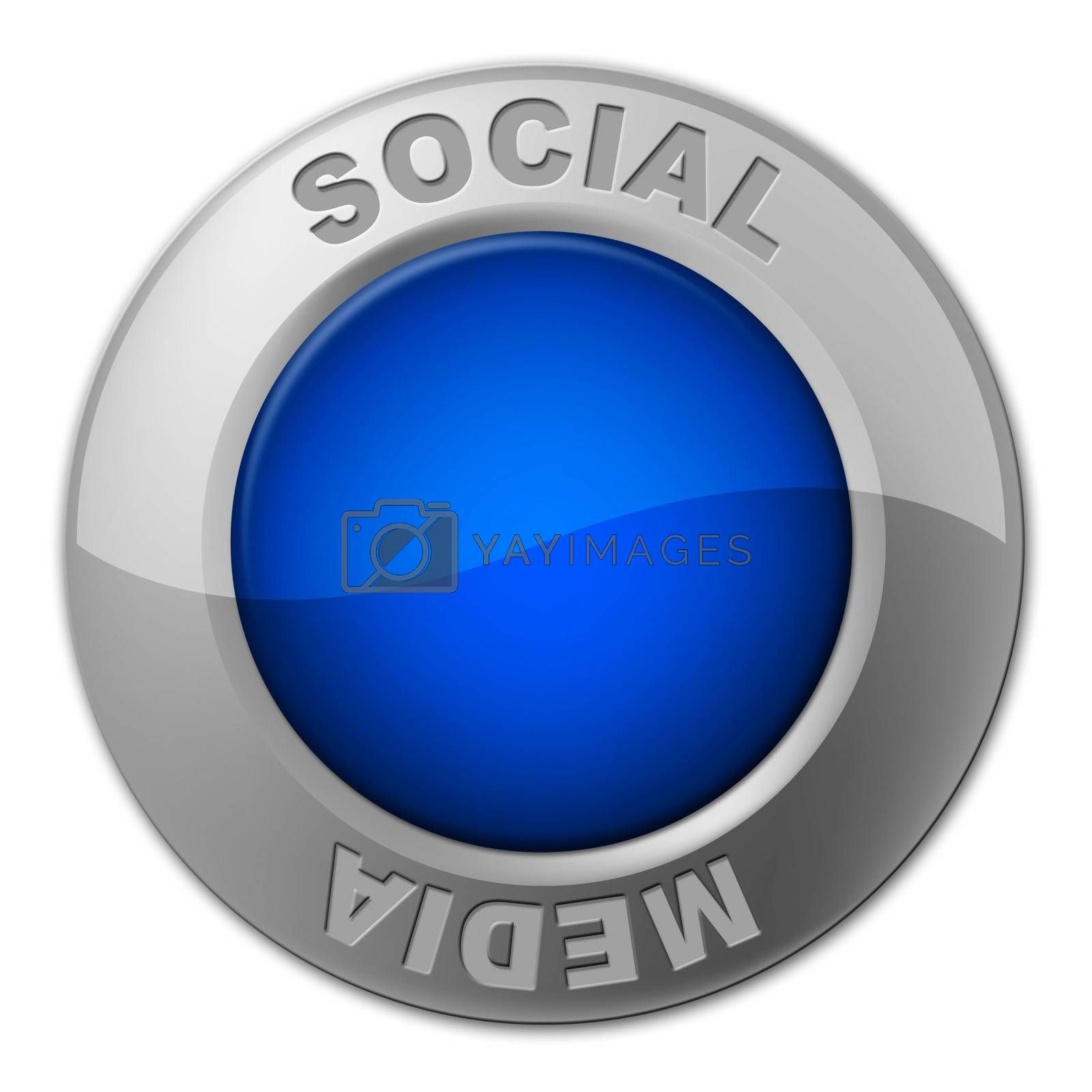 Social Media Button Represents News Feed And Forums by stuartmiles