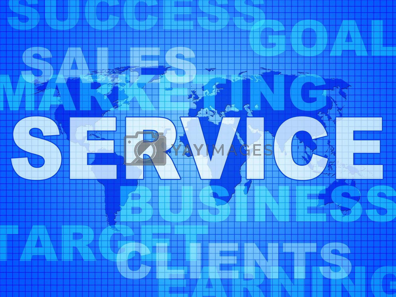 Service Words Means Support Information And Knowledge by stuartmiles