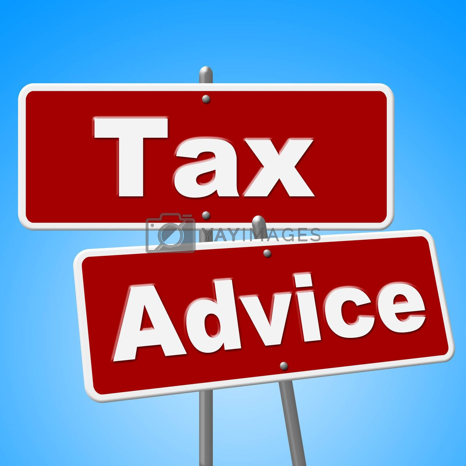 Tax Advice Signs Represents Help Faq And Instructions by stuartmiles