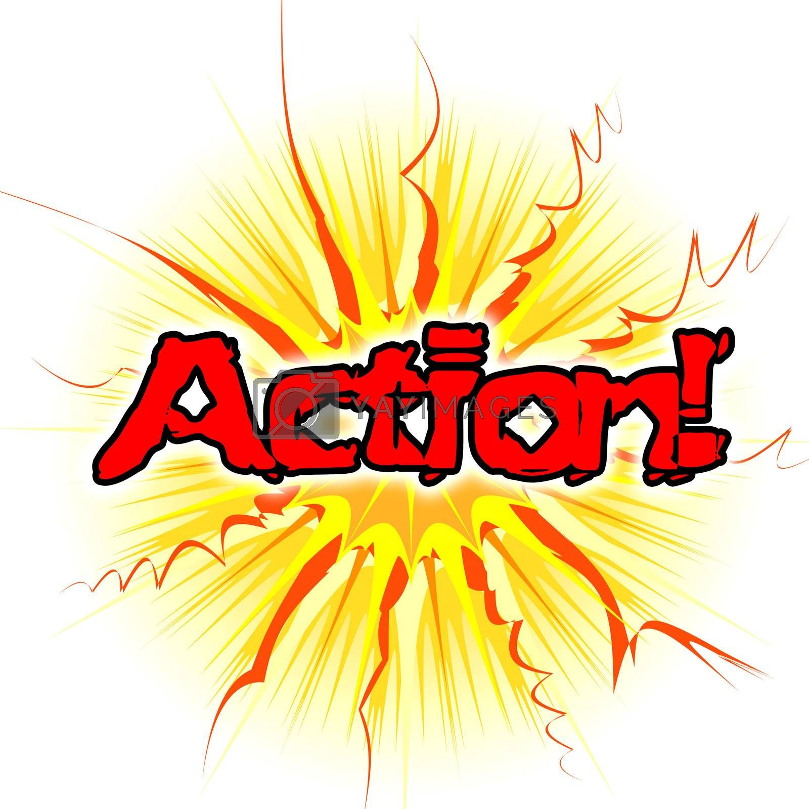 Action Sign Means Do It And Acting by stuartmiles