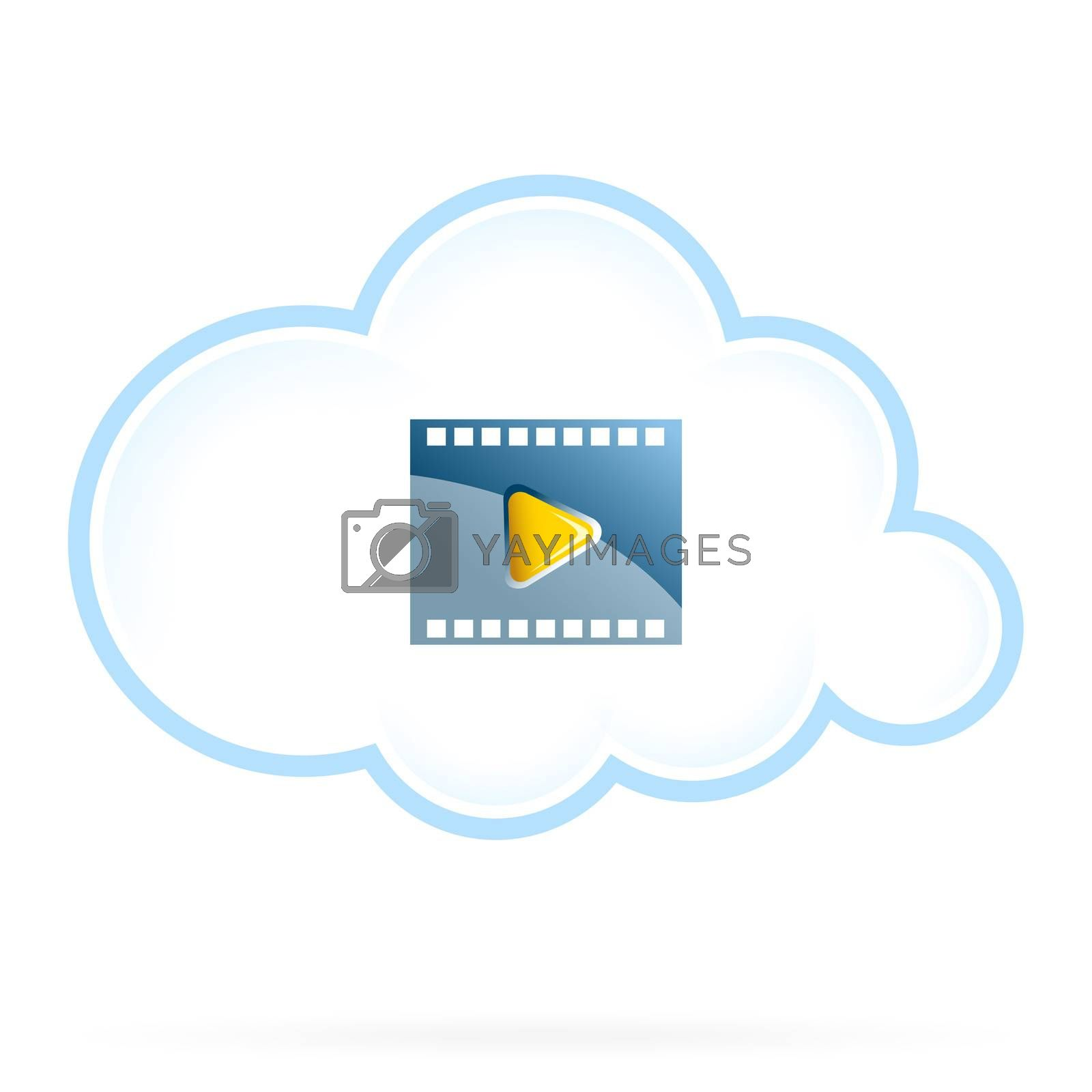 Cloud Movie Storage Icon by WaD