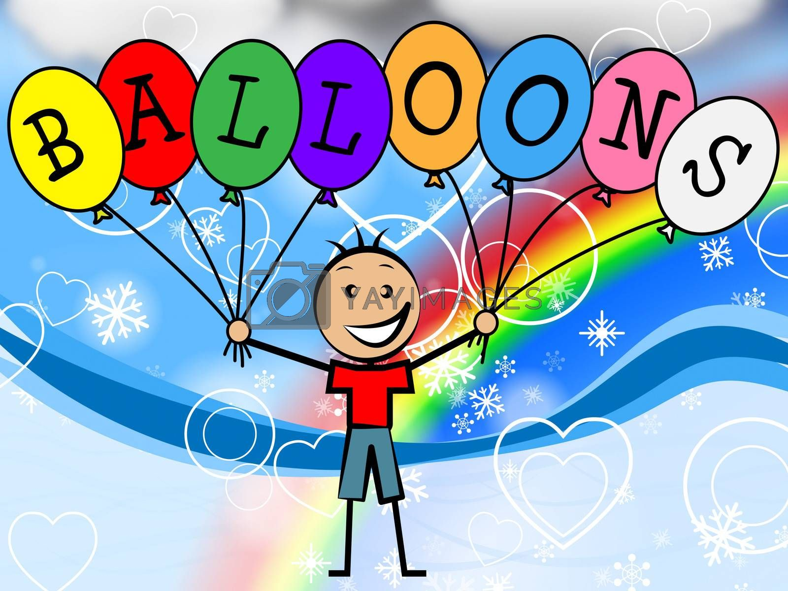 Balloons Boy Means Celebration Youth And Kids by stuartmiles