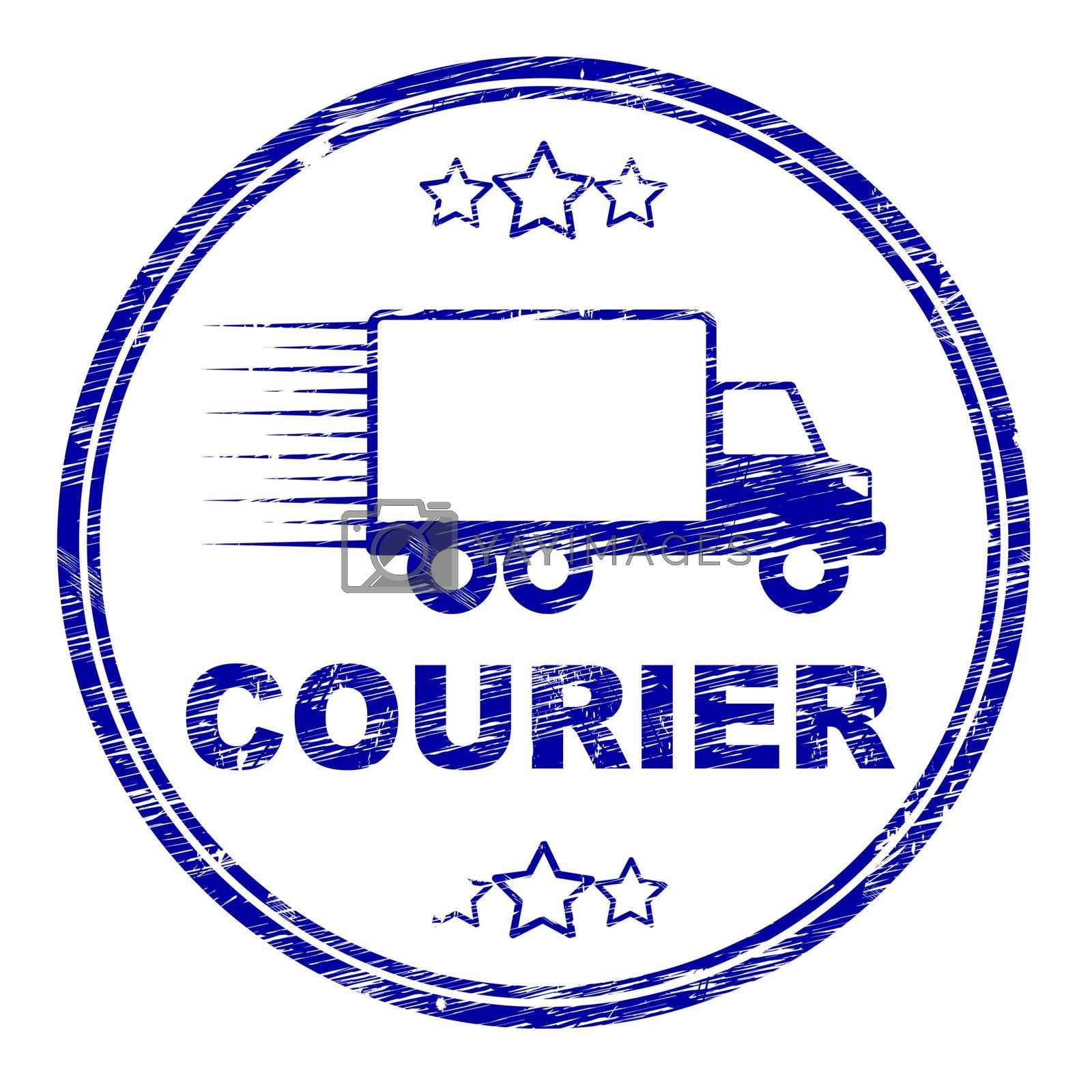 Courier Stamp Means Delivery Shipping And Transport by stuartmiles