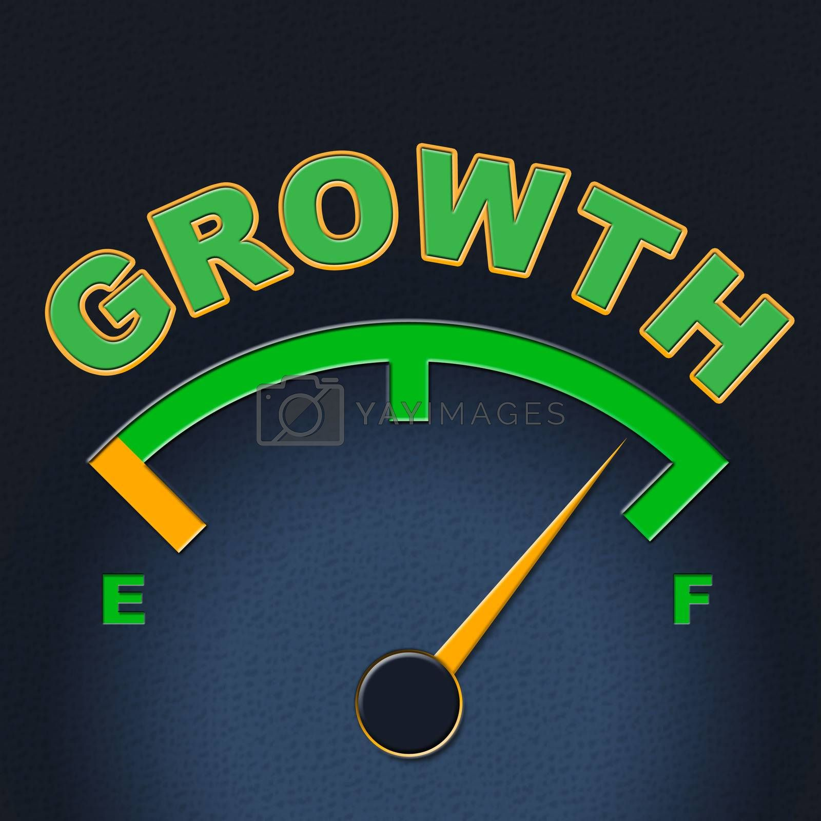 Growth Gauge Indicates Meter Scale And Indicator by stuartmiles