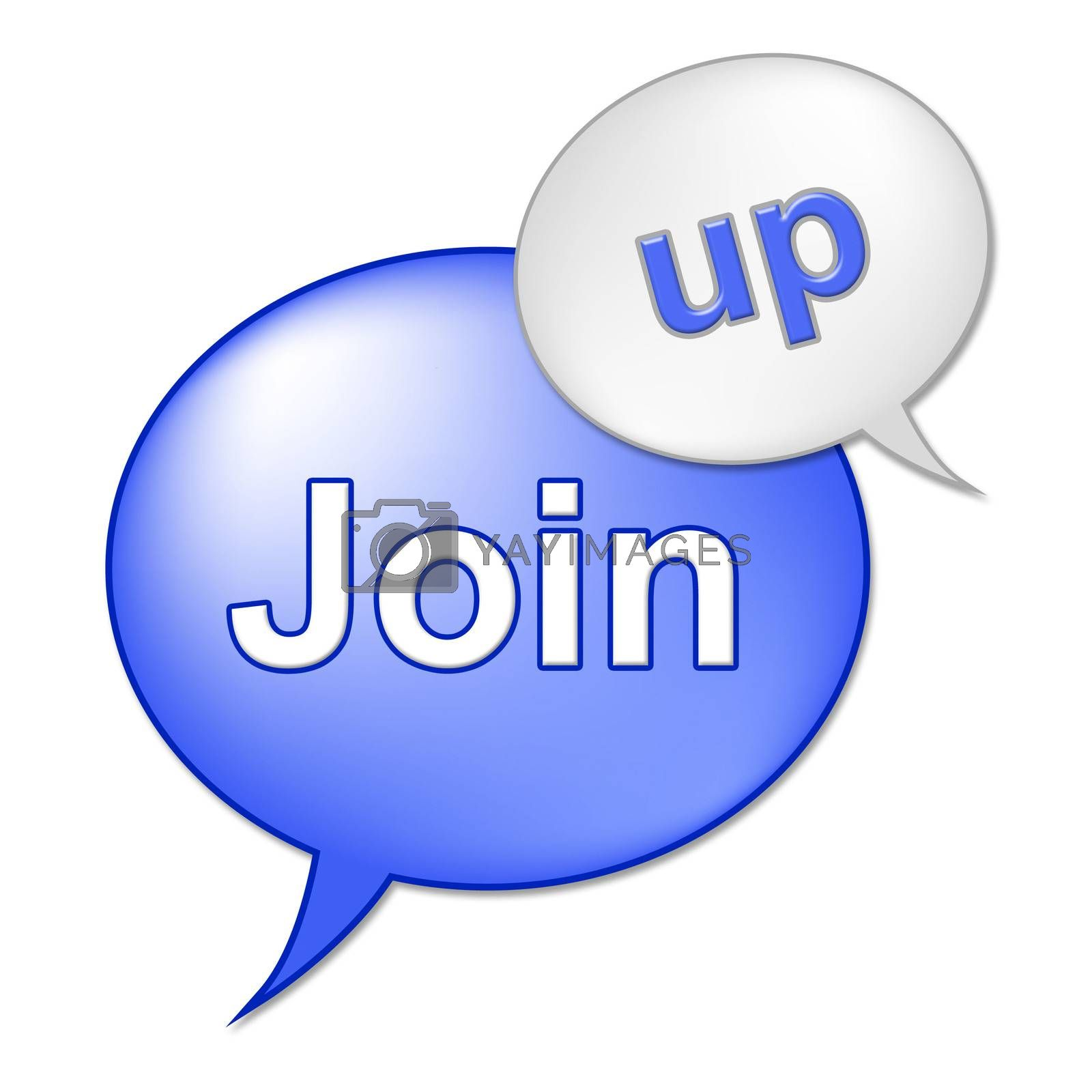 Join Up Sign Shows Registering Subscribing And Registration by stuartmiles