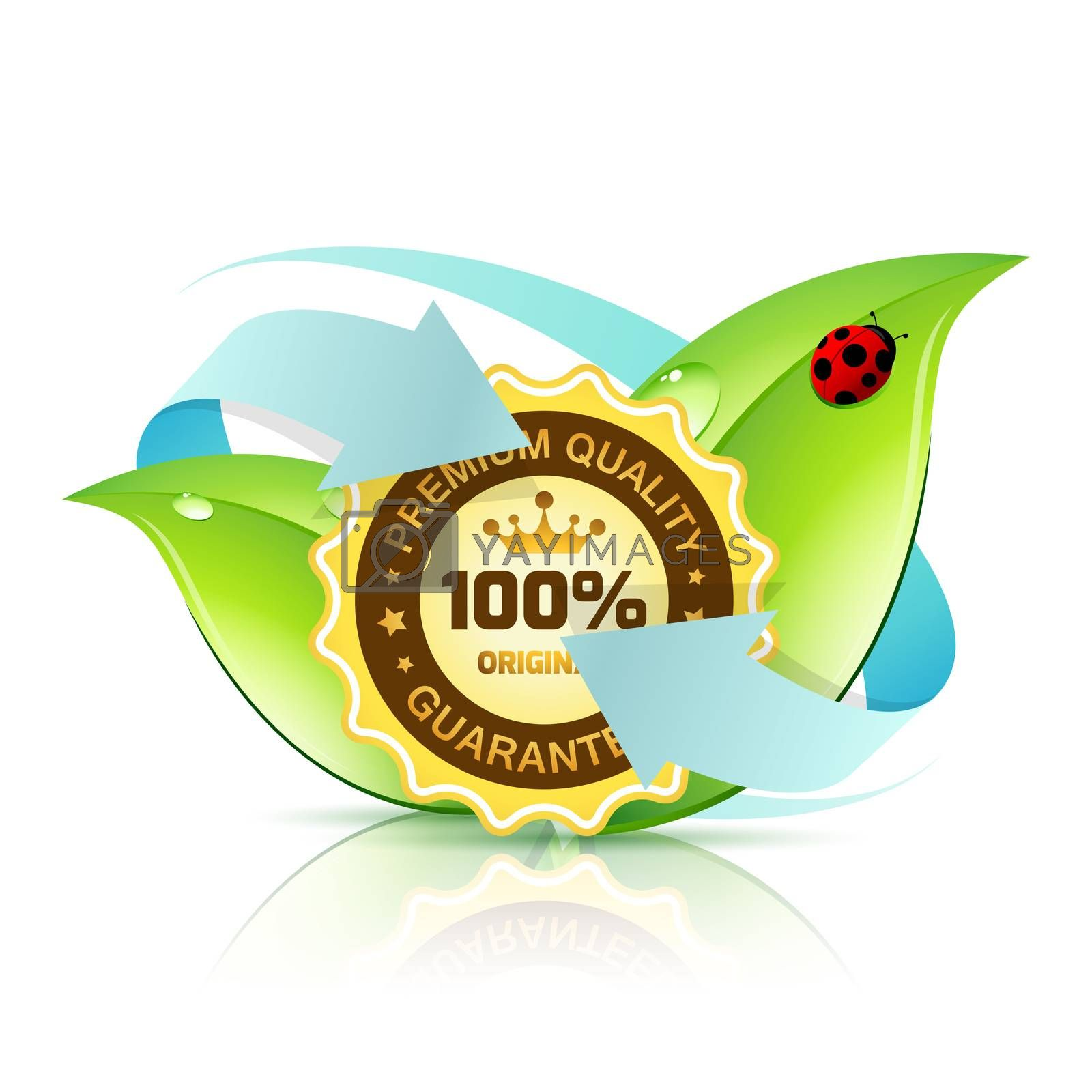 Premium Quality Label with Leaves by WaD