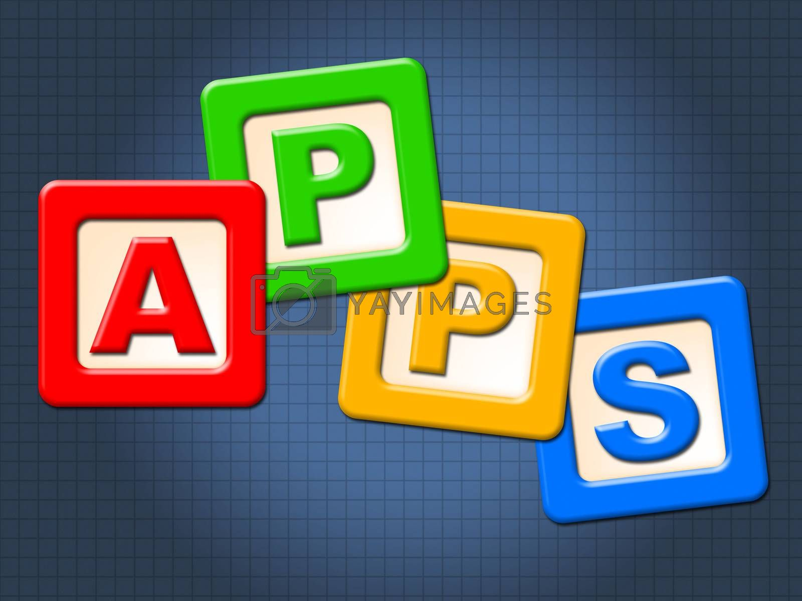 Apps Kids Blocks Shows Application Software And Computing by stuartmiles